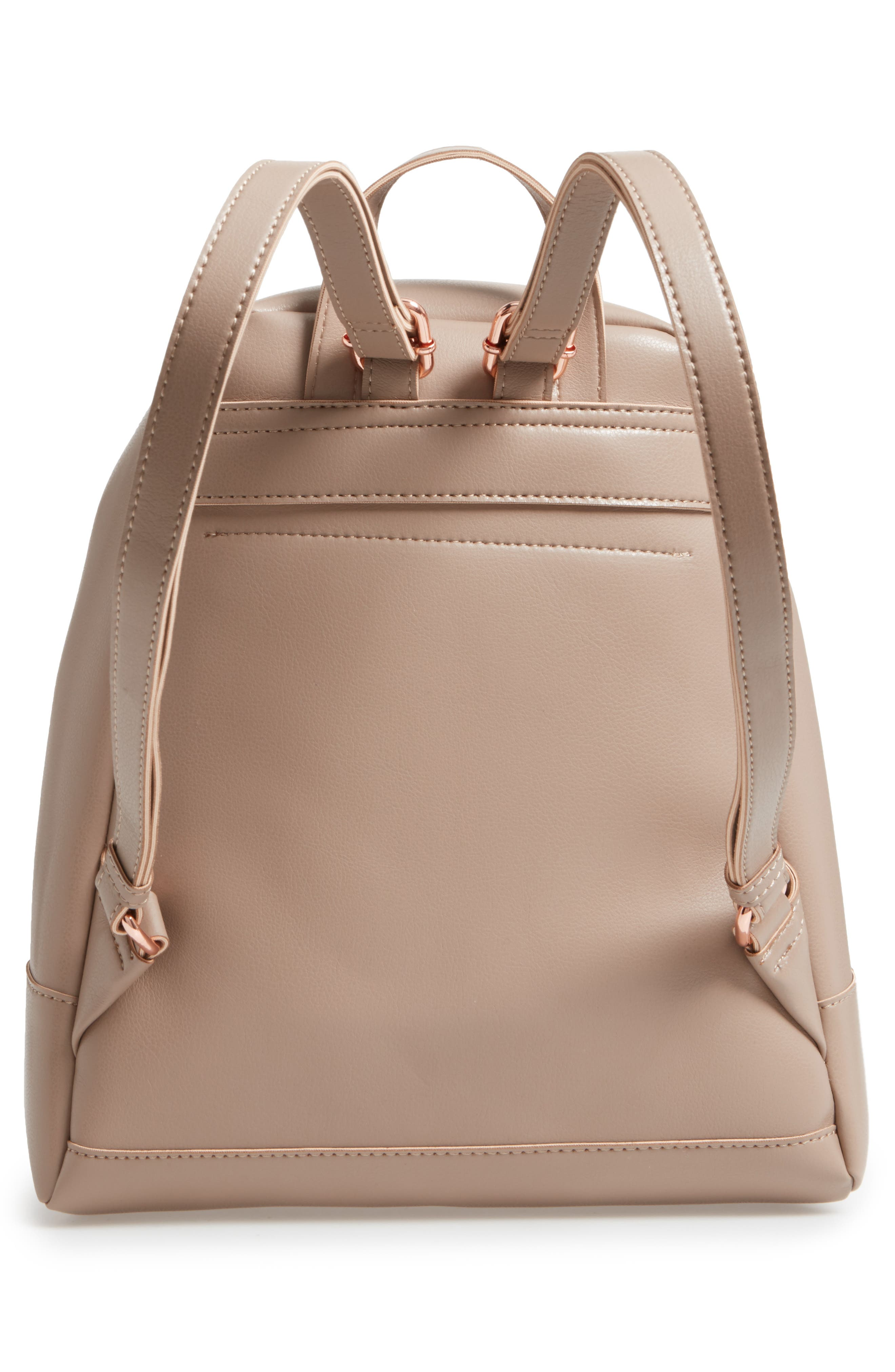 Chester Faux Leather Backpack,                             Alternate thumbnail 6, color,
