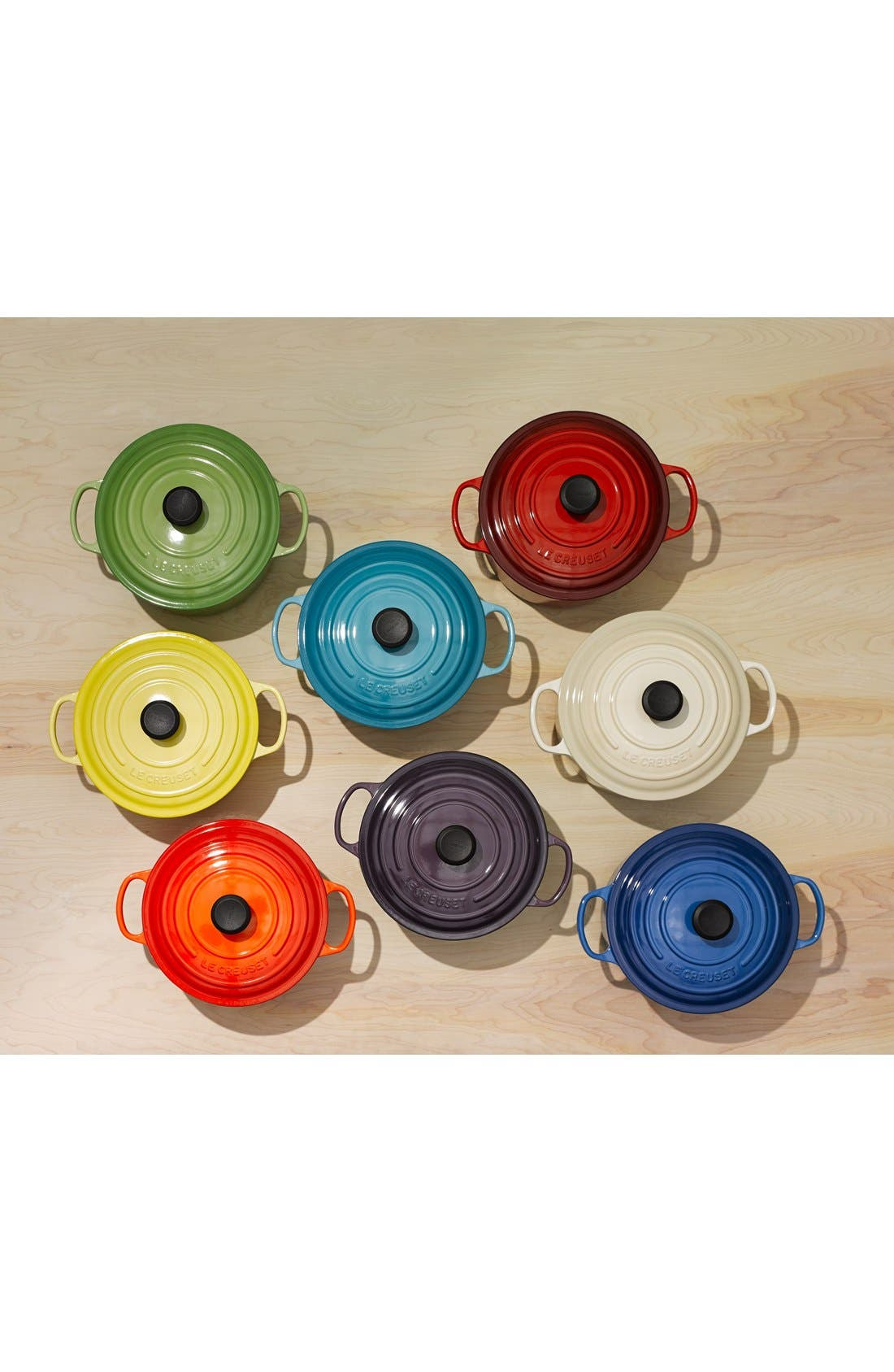 LE CREUSET,                             Signature 5 1/2 Quart Round Enamel Cast Iron French/Dutch Oven,                             Alternate thumbnail 5, color,                             INDIGO