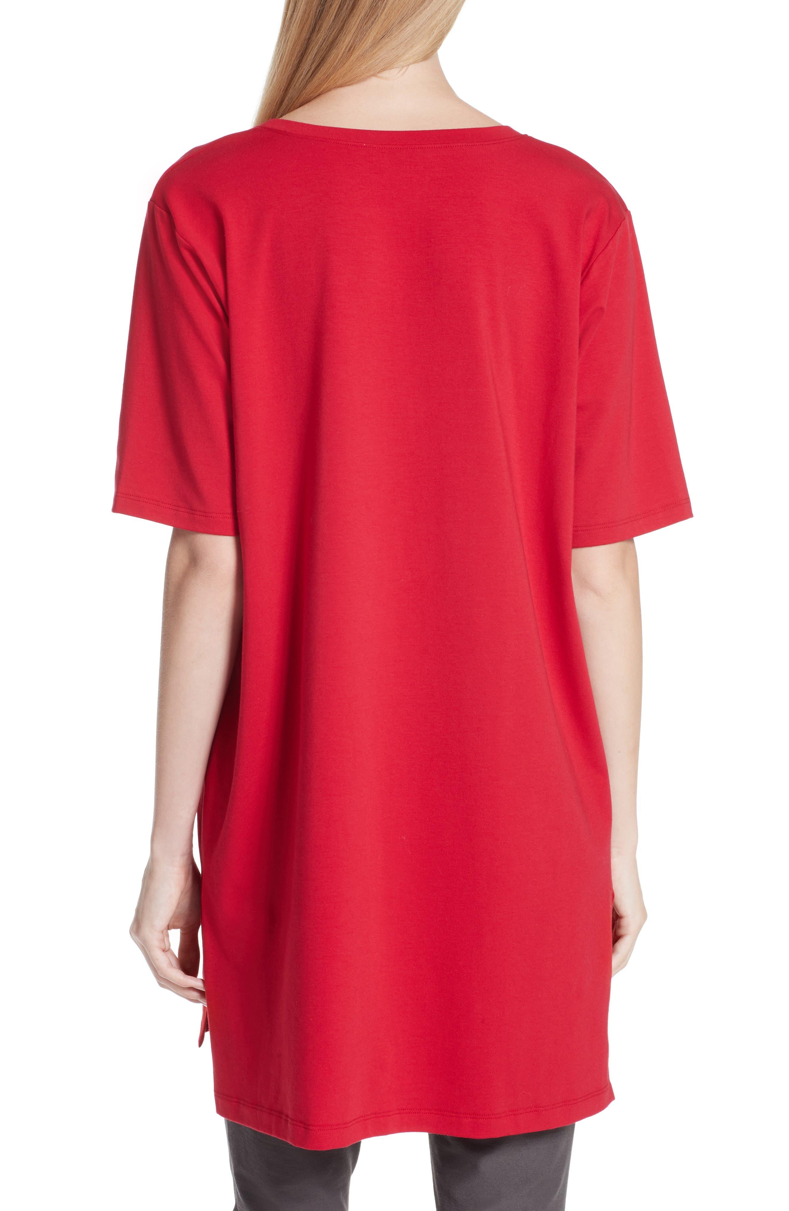Stretch Organic Cotton Jersey Tunic,                             Alternate thumbnail 10, color,