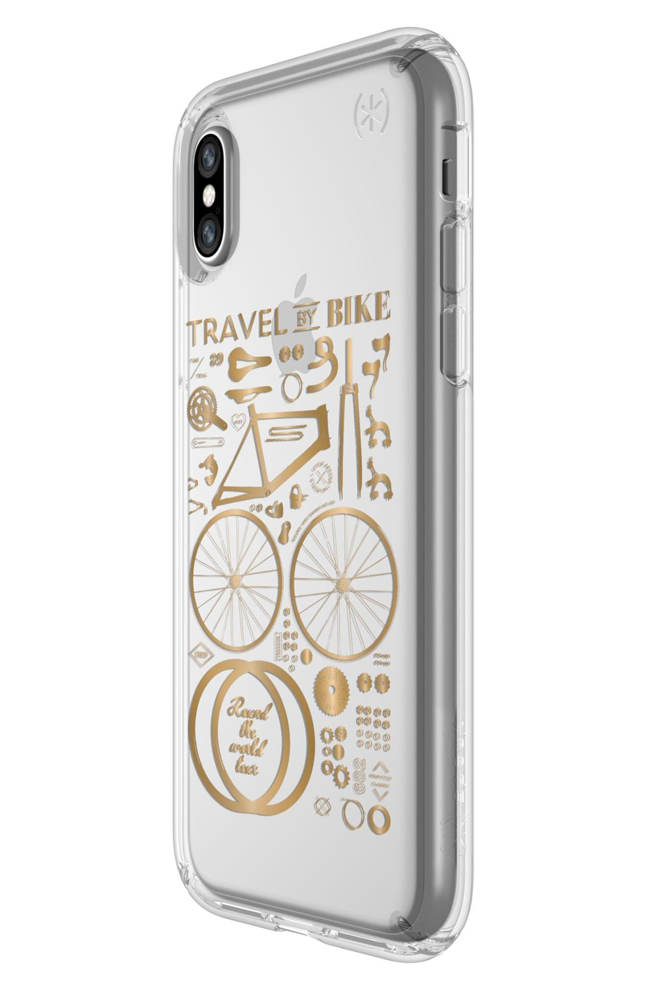 Metallic City Bike Transparent iPhone X Case,                             Alternate thumbnail 5, color,                             712
