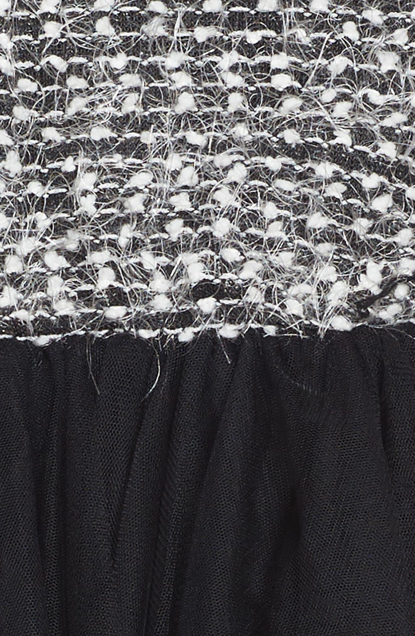 Sweater Tutu Dress,                             Alternate thumbnail 3, color,                             001