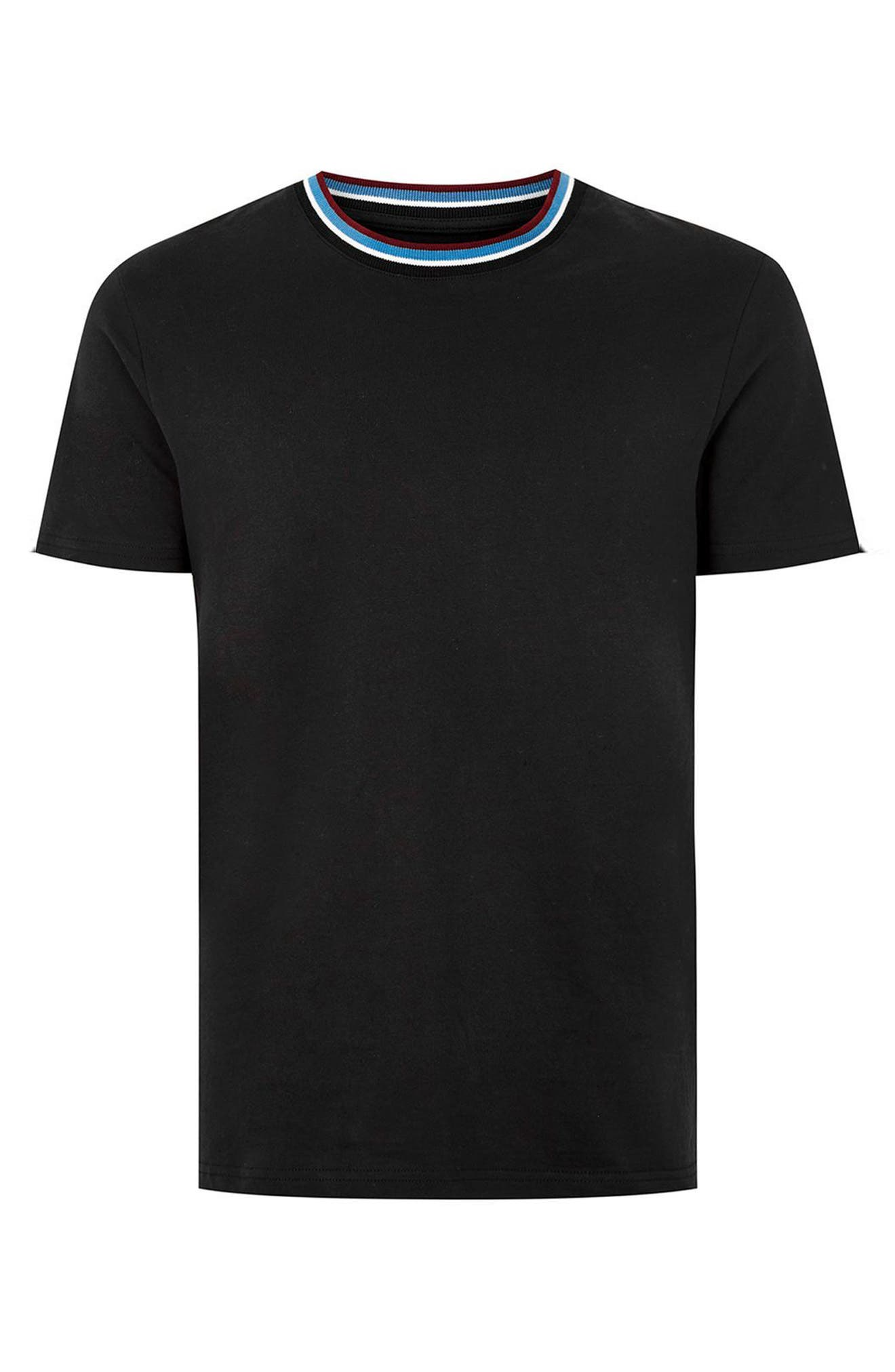 Stripe Tipped Ringer T-Shirt,                             Alternate thumbnail 7, color,