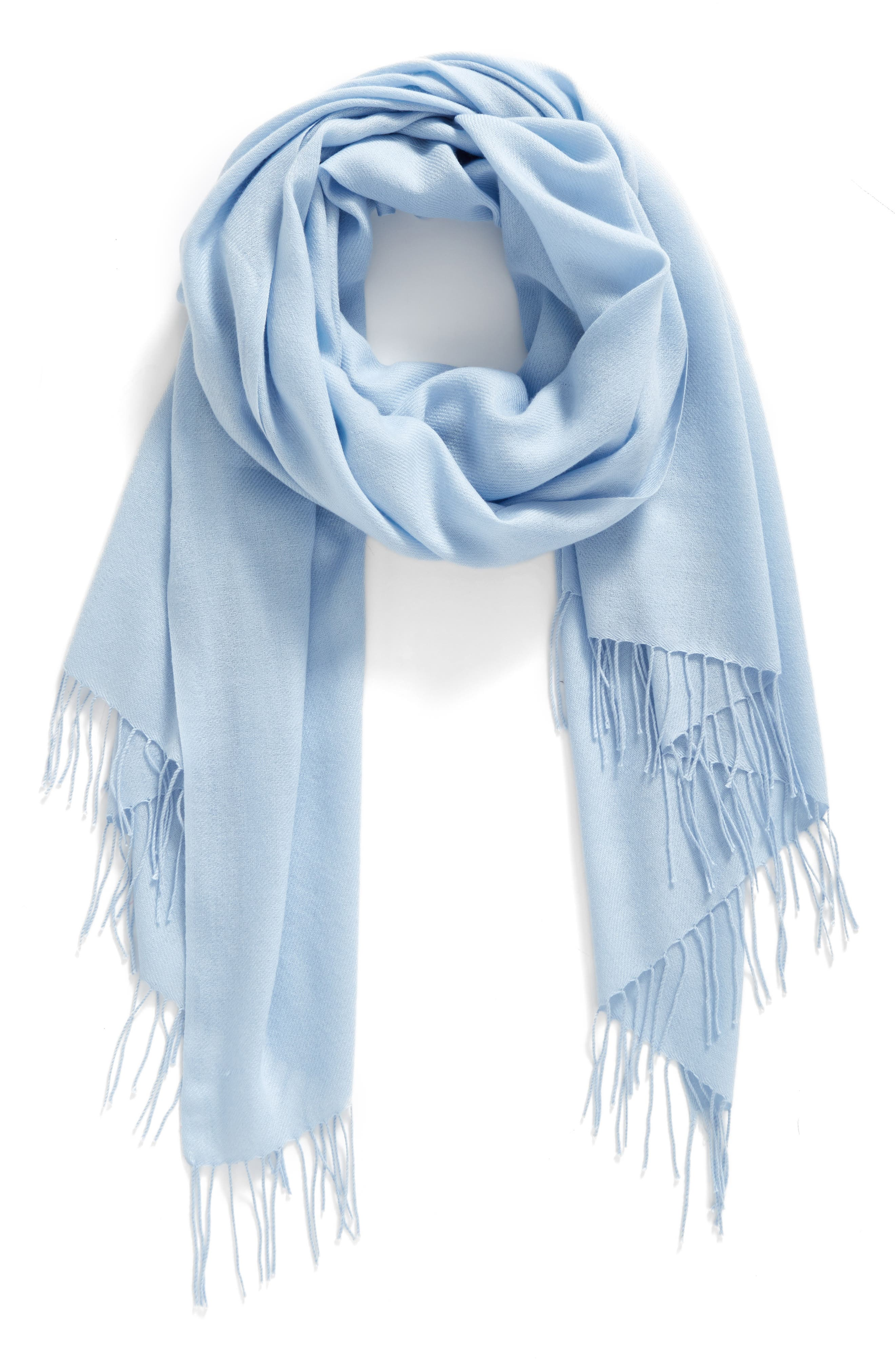 Tissue Weight Wool & Cashmere Scarf,                             Alternate thumbnail 111, color,