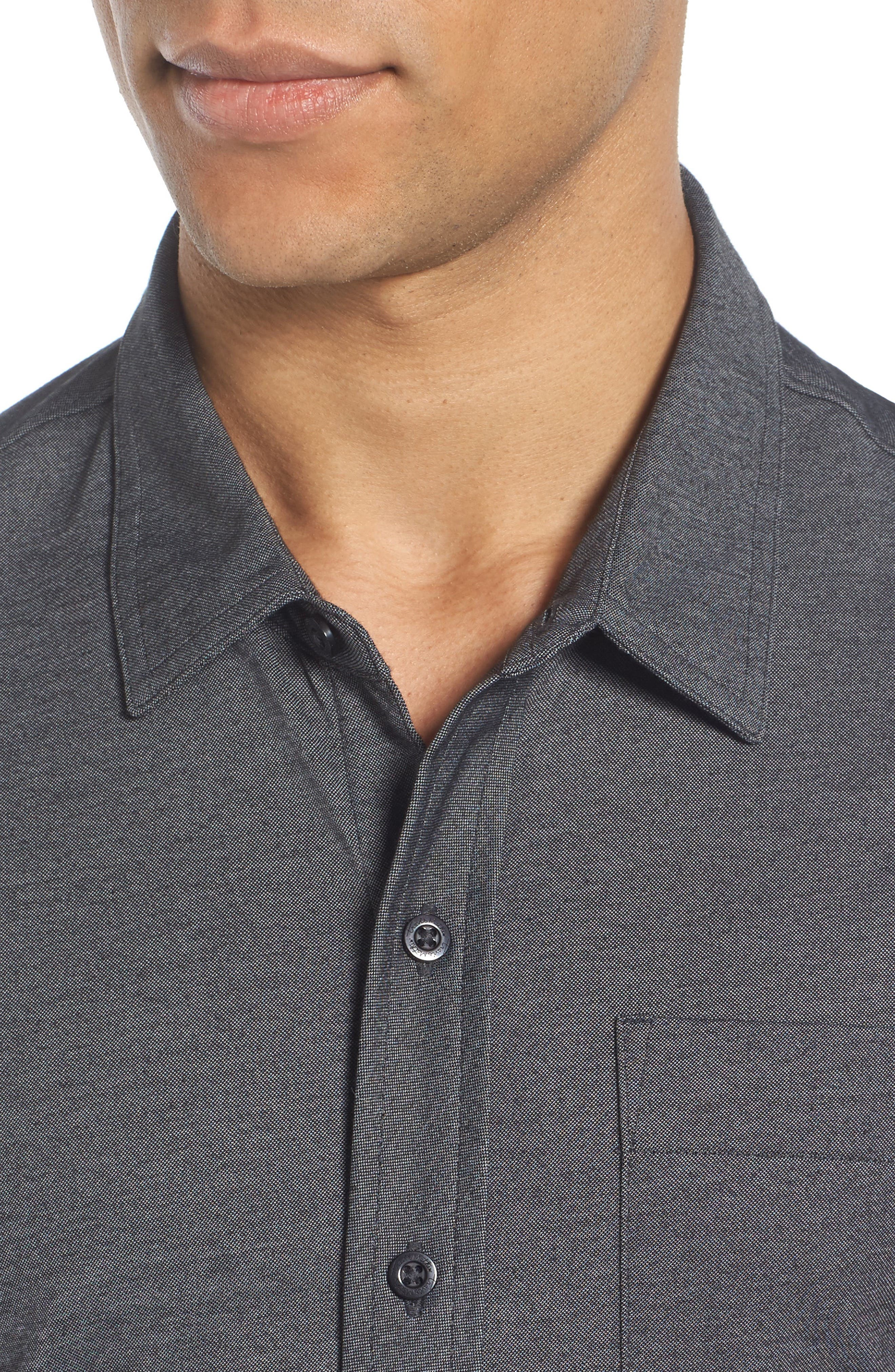 Trip'Slim Fit Wrinkle Free Sport Shirt,                             Alternate thumbnail 4, color,                             001