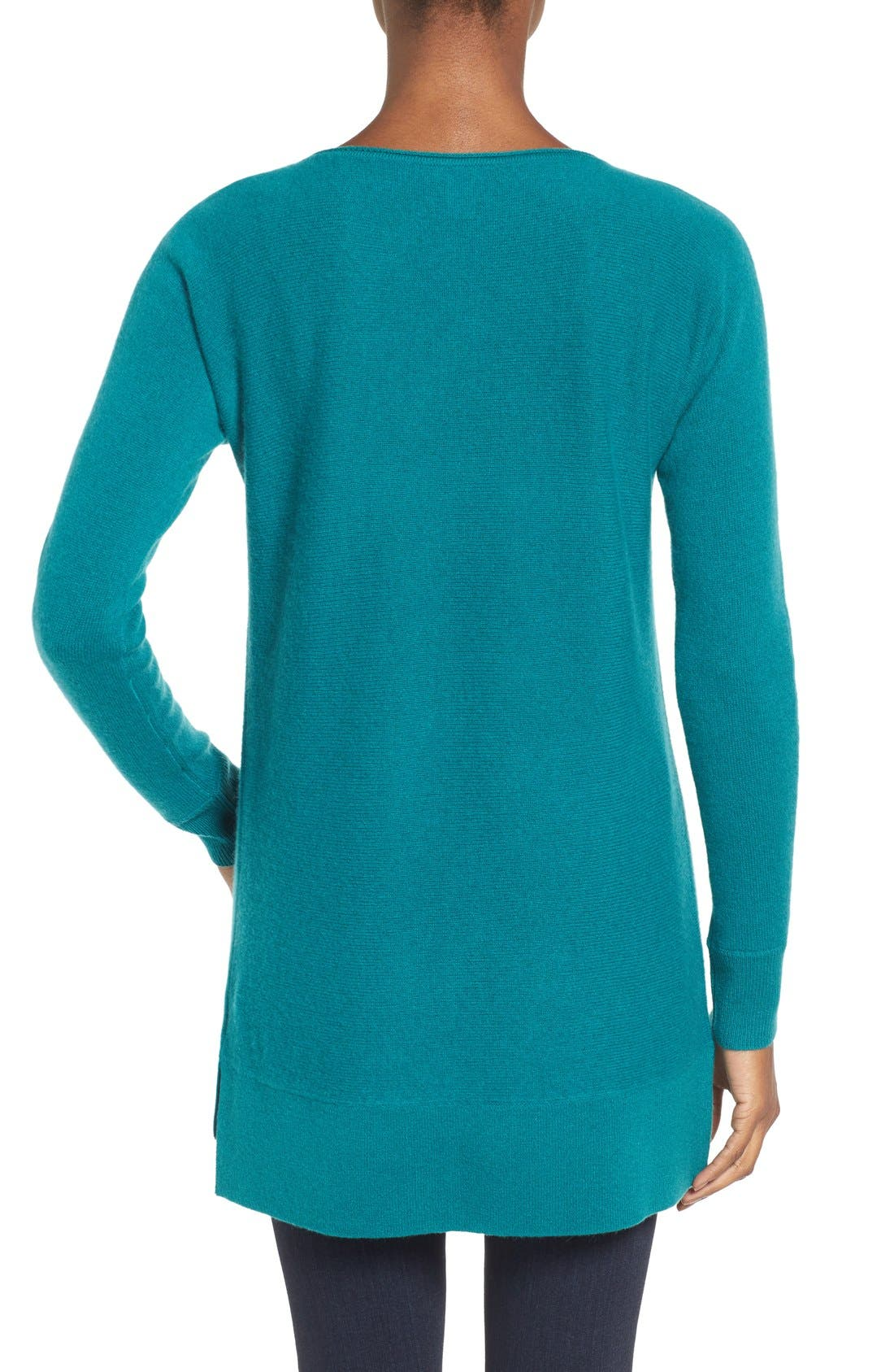 High/Low Wool & Cashmere Tunic Sweater,                             Alternate thumbnail 63, color,
