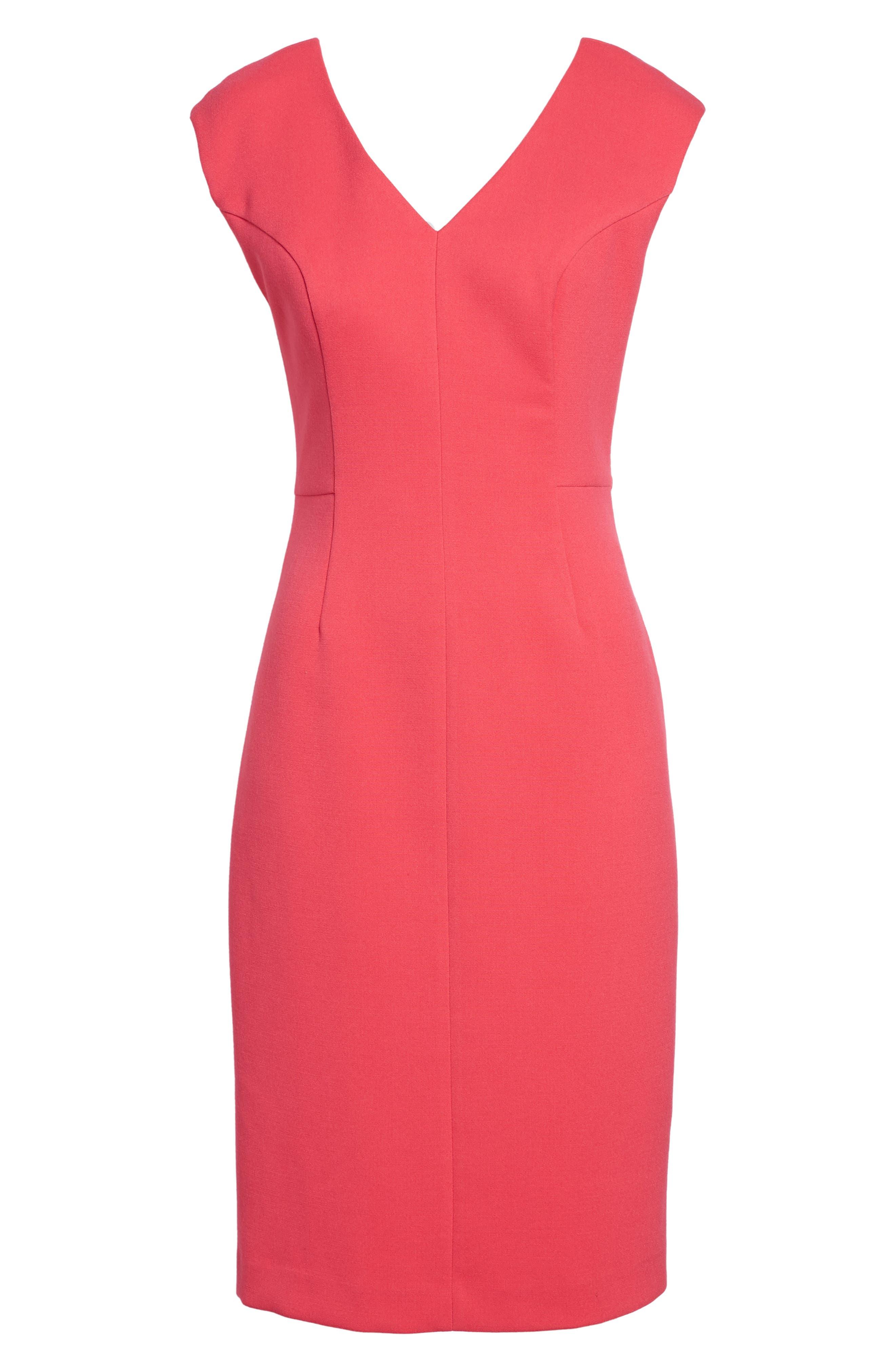 Crepe Sheath Dress,                         Main,                         color, 660
