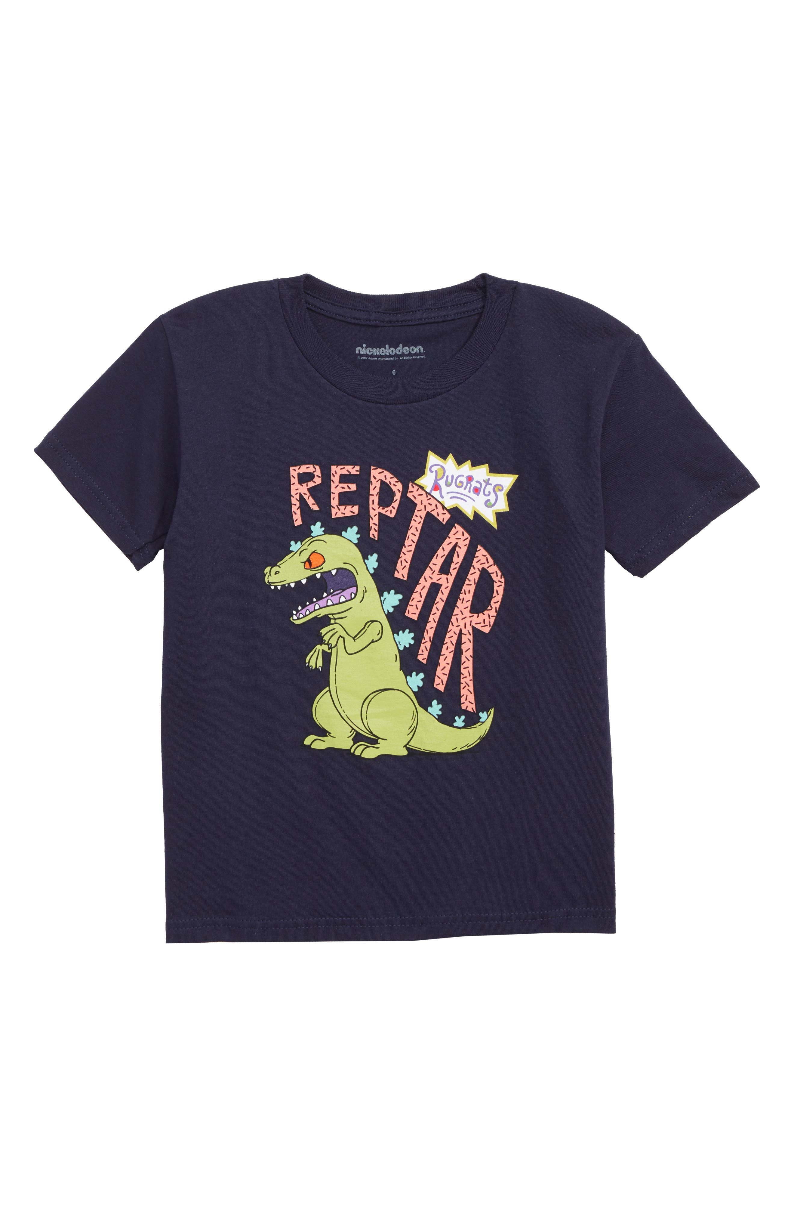Boys Mighty Fine Nickelodeon Reptar Rugrats Graphic TShirt
