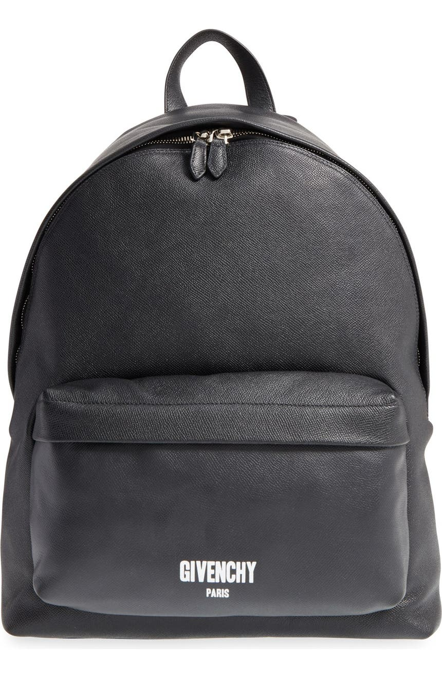 Givenchy Logo Calfskin Leather Backpack  d0b3271a025
