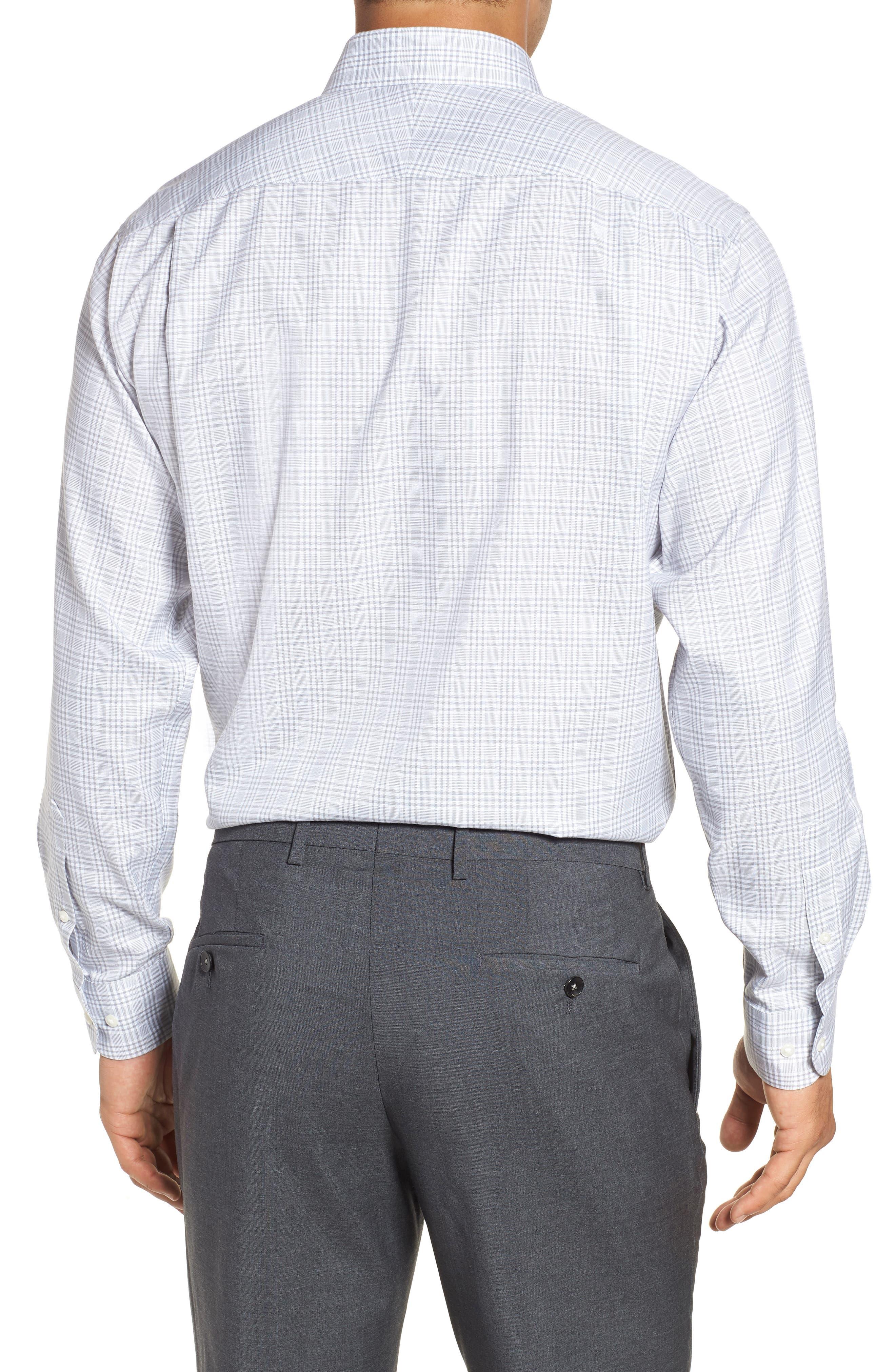 Smartcare<sup>™</sup> Classic Fit Plaid Dress Shirt,                             Alternate thumbnail 3, color,                             050