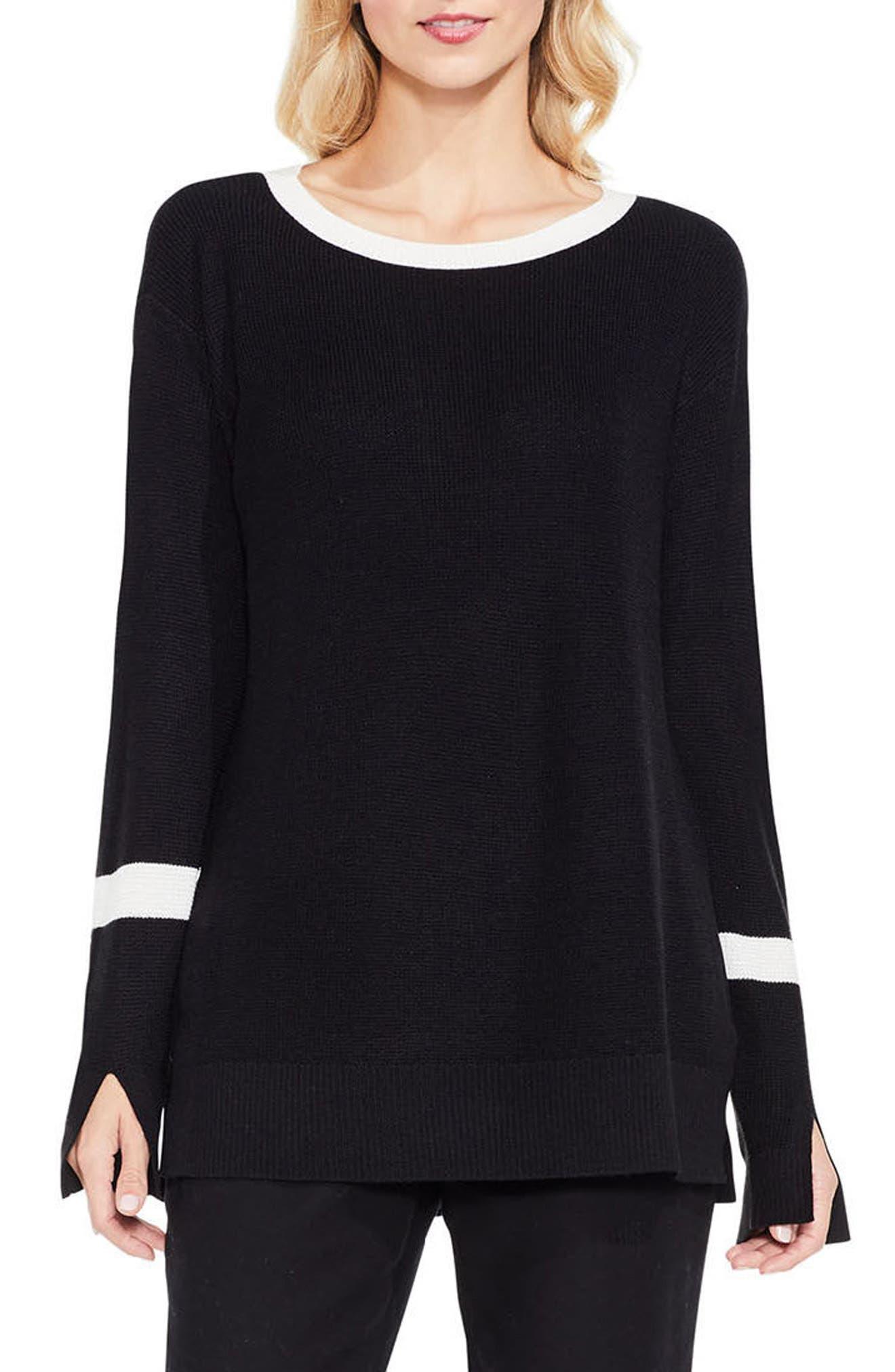 Split Bell Sleeve Sweater,                             Main thumbnail 1, color,                             006