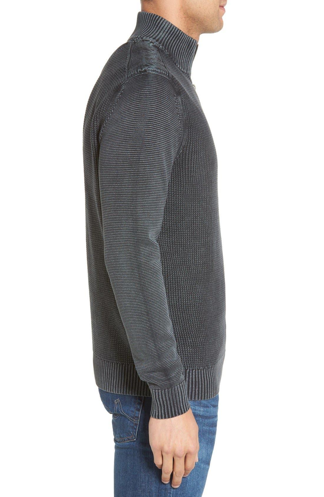'Coastal Shores' Quarter Zip Sweater,                             Alternate thumbnail 22, color,