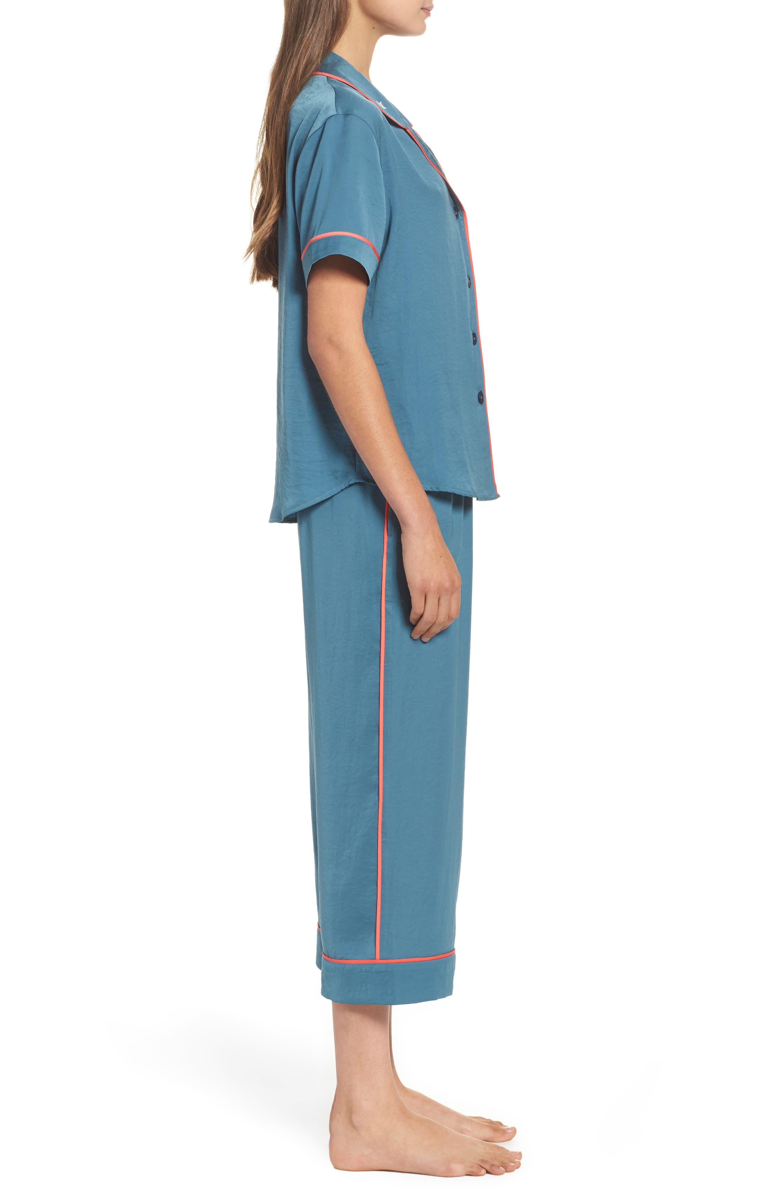 Satin Pajamas,                             Alternate thumbnail 3, color,                             450