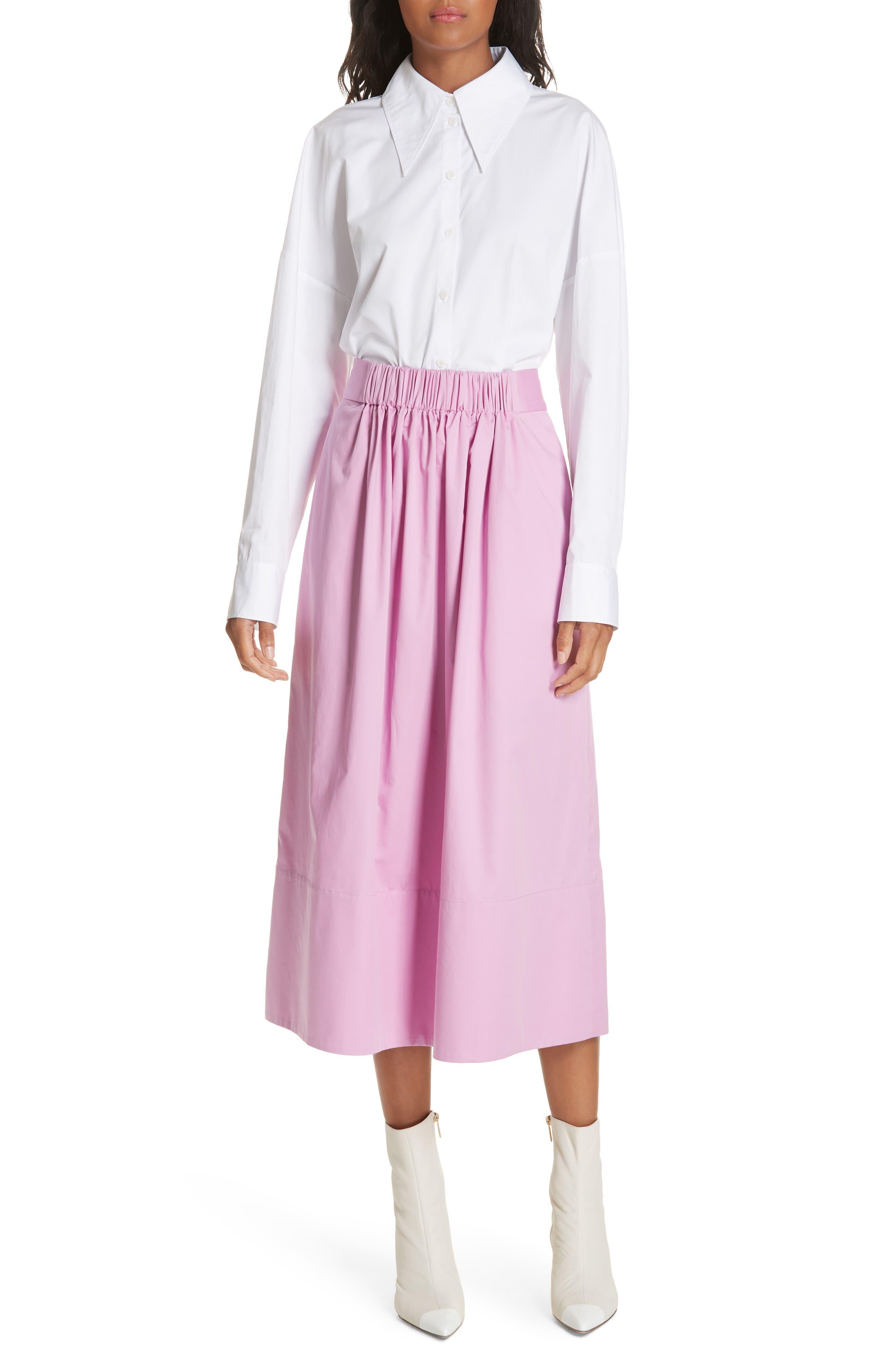 Oversize Poplin Shirt,                             Alternate thumbnail 7, color,                             WHITE