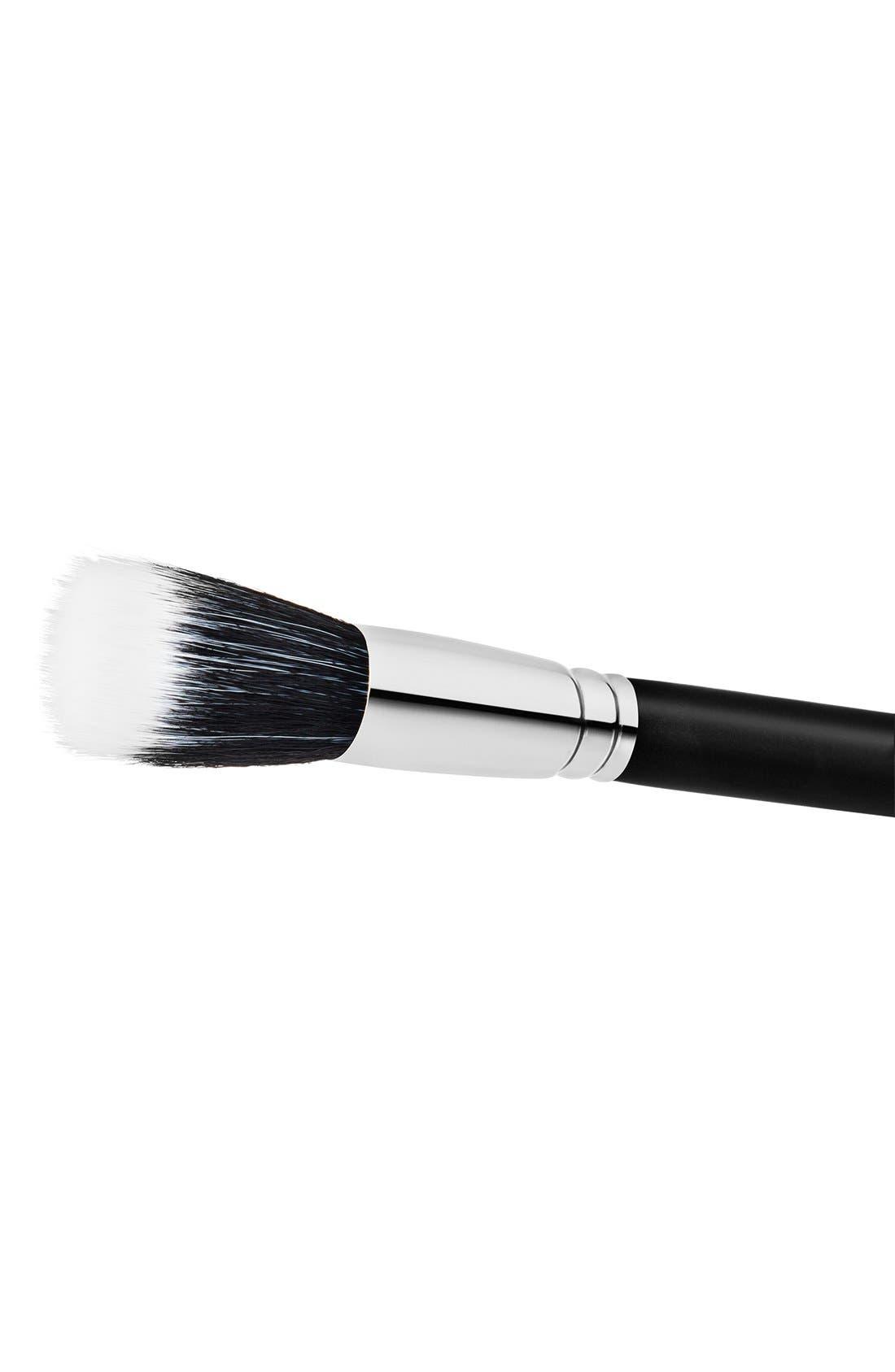 MAC 187 Duo Fibre Face Brush,                             Alternate thumbnail 3, color,                             000