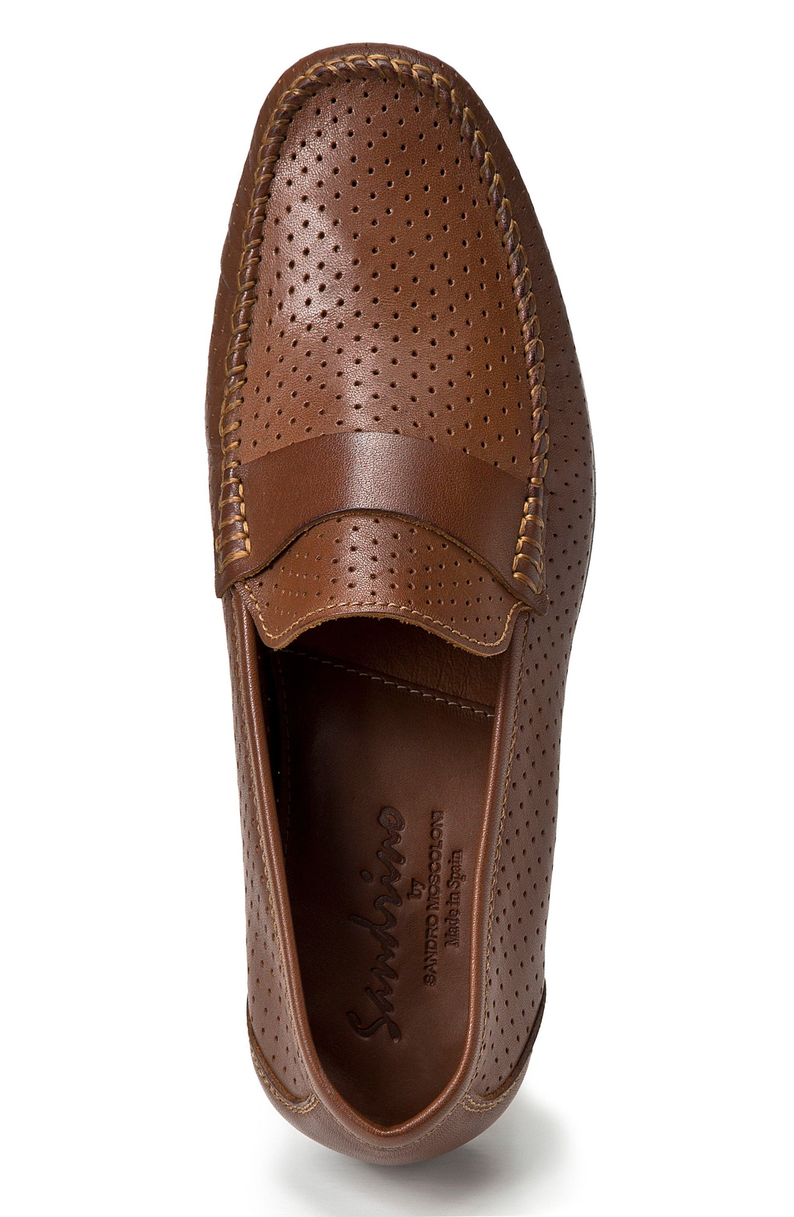 Alcazar Perforated Loafer,                             Alternate thumbnail 3, color,