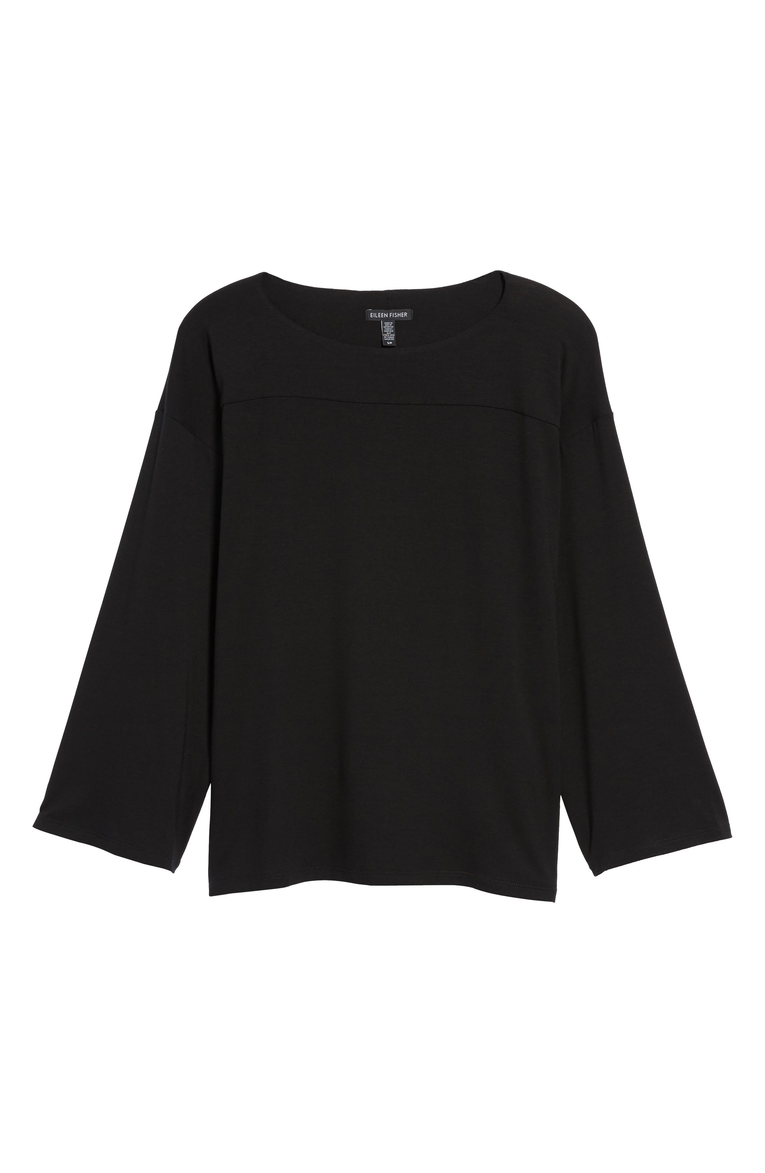 Boxy Jersey Top,                             Alternate thumbnail 6, color,                             001