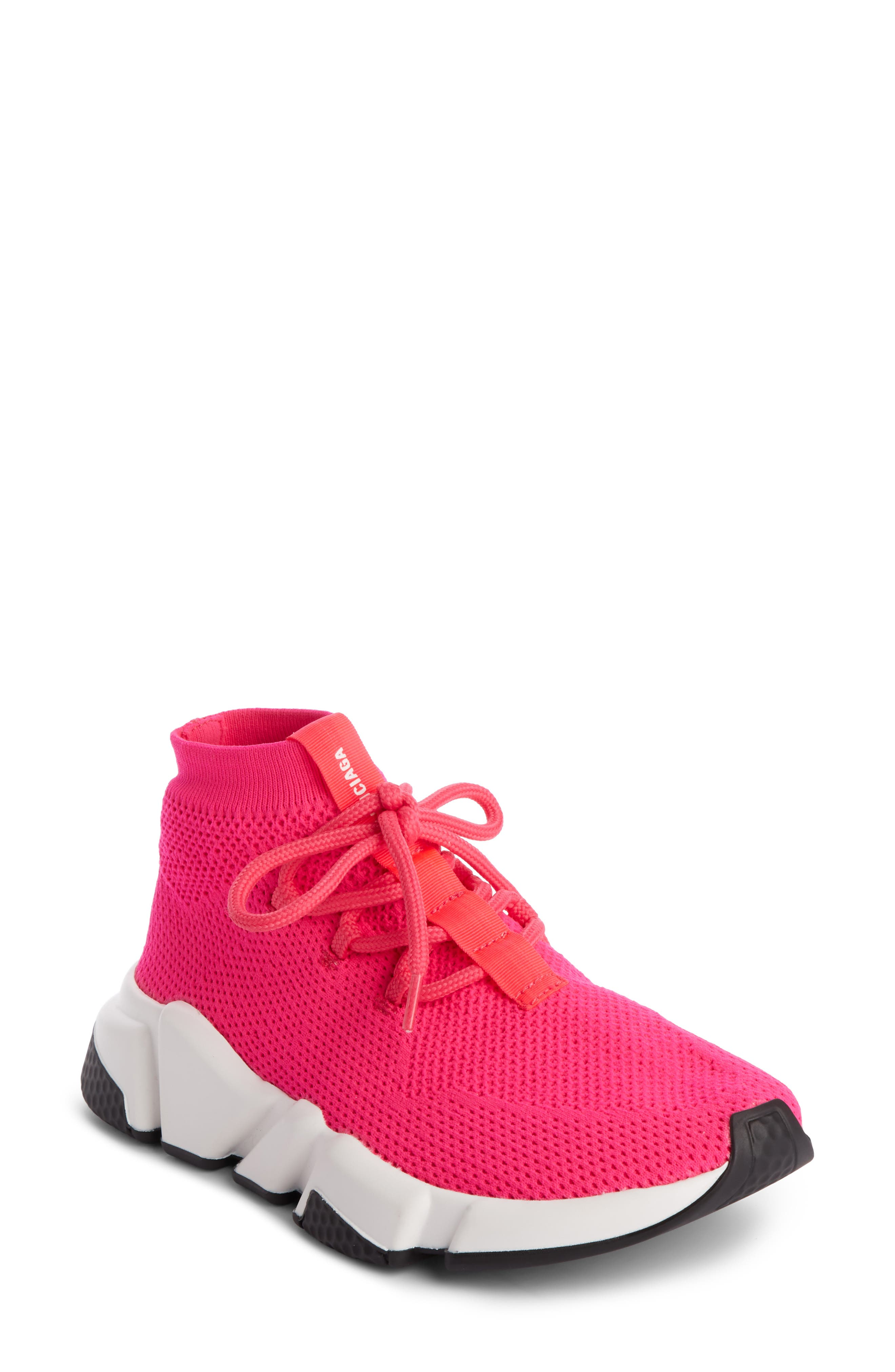 Low Speed Lace-Up Sneaker,                             Main thumbnail 1, color,                             PINK