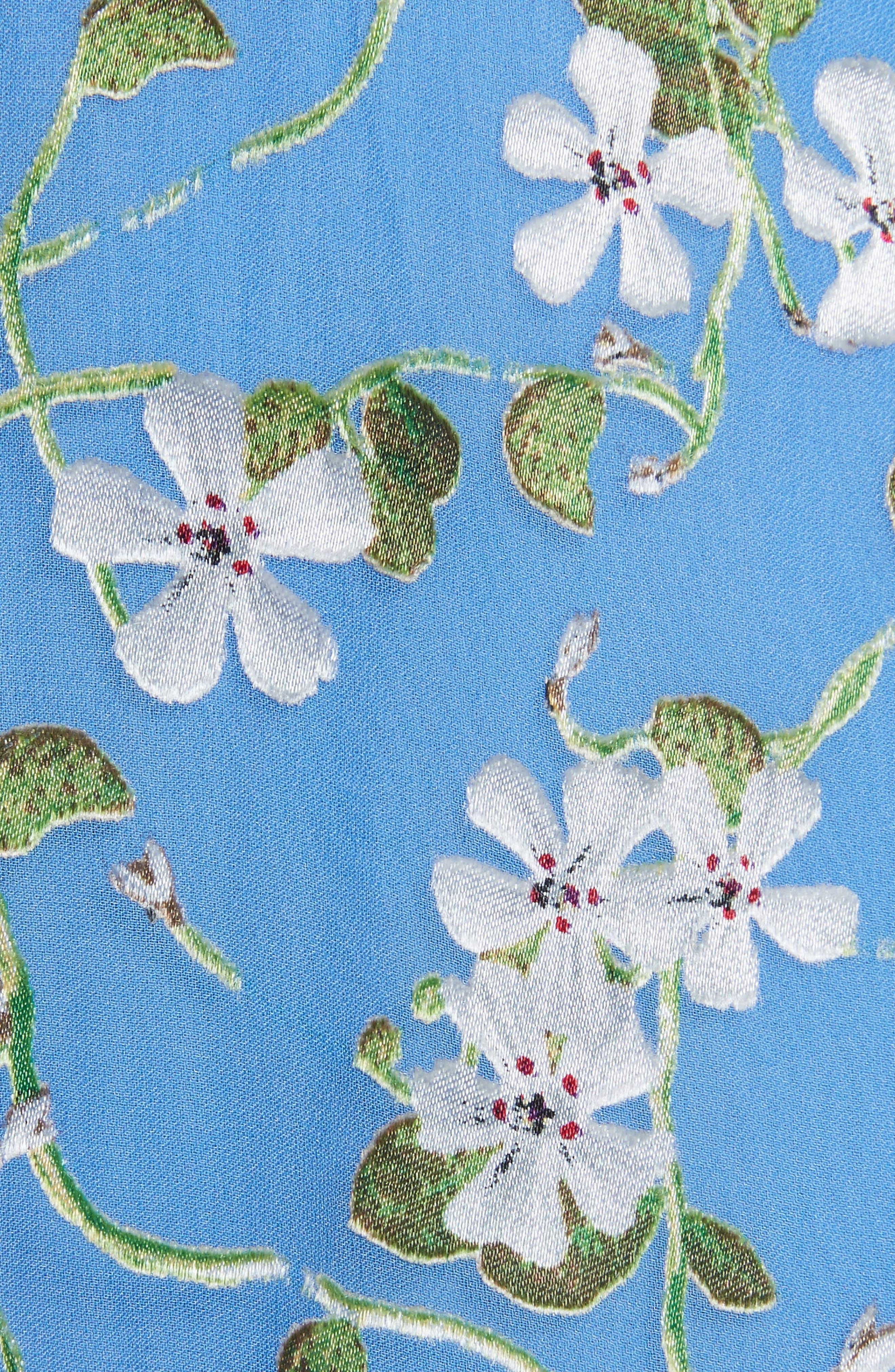 Halsey Bell Sleeve Faux Wrap Dress,                             Alternate thumbnail 5, color,