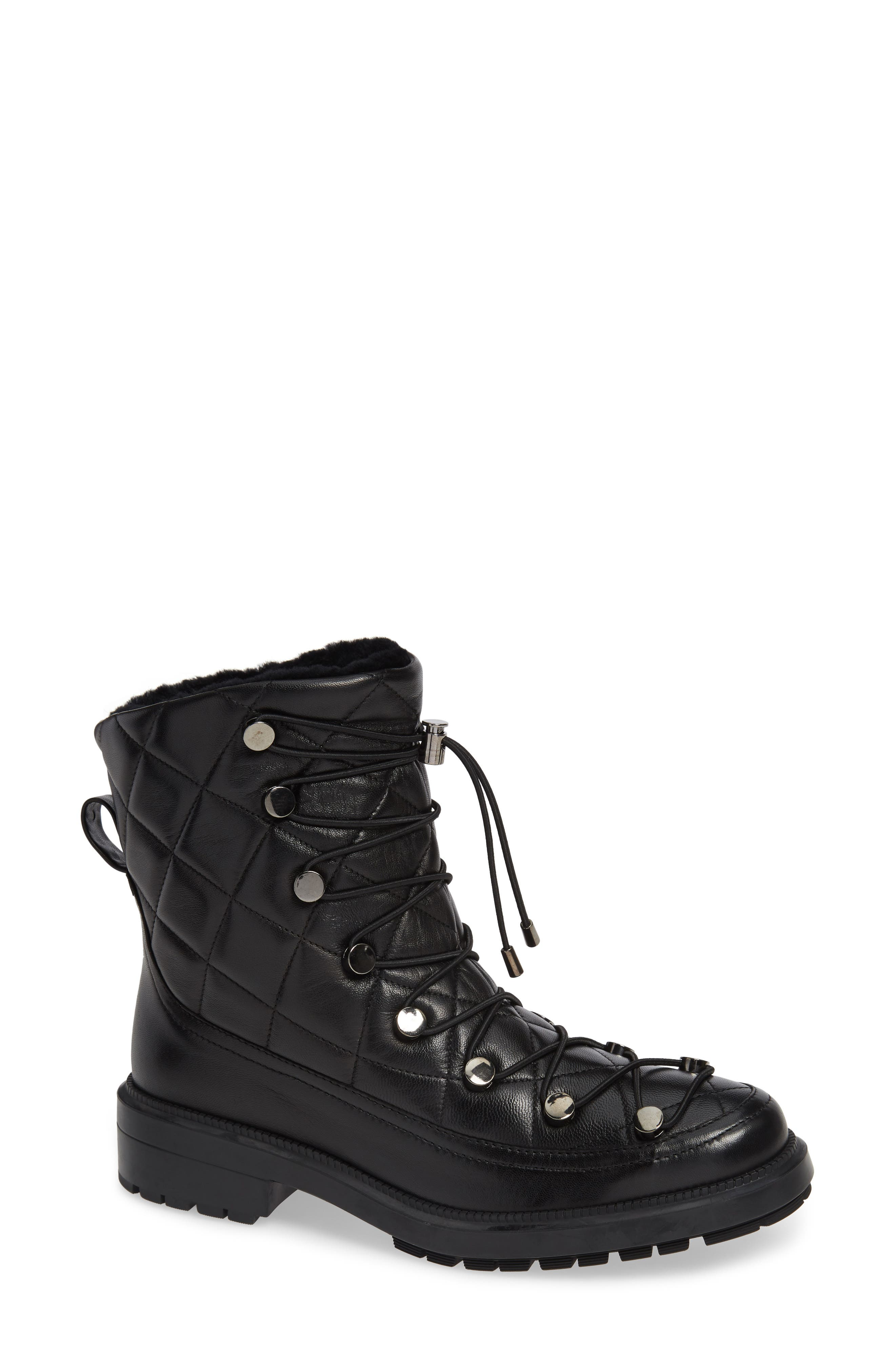 Aquatalia Lorena Genuine Shearling Boot- Black