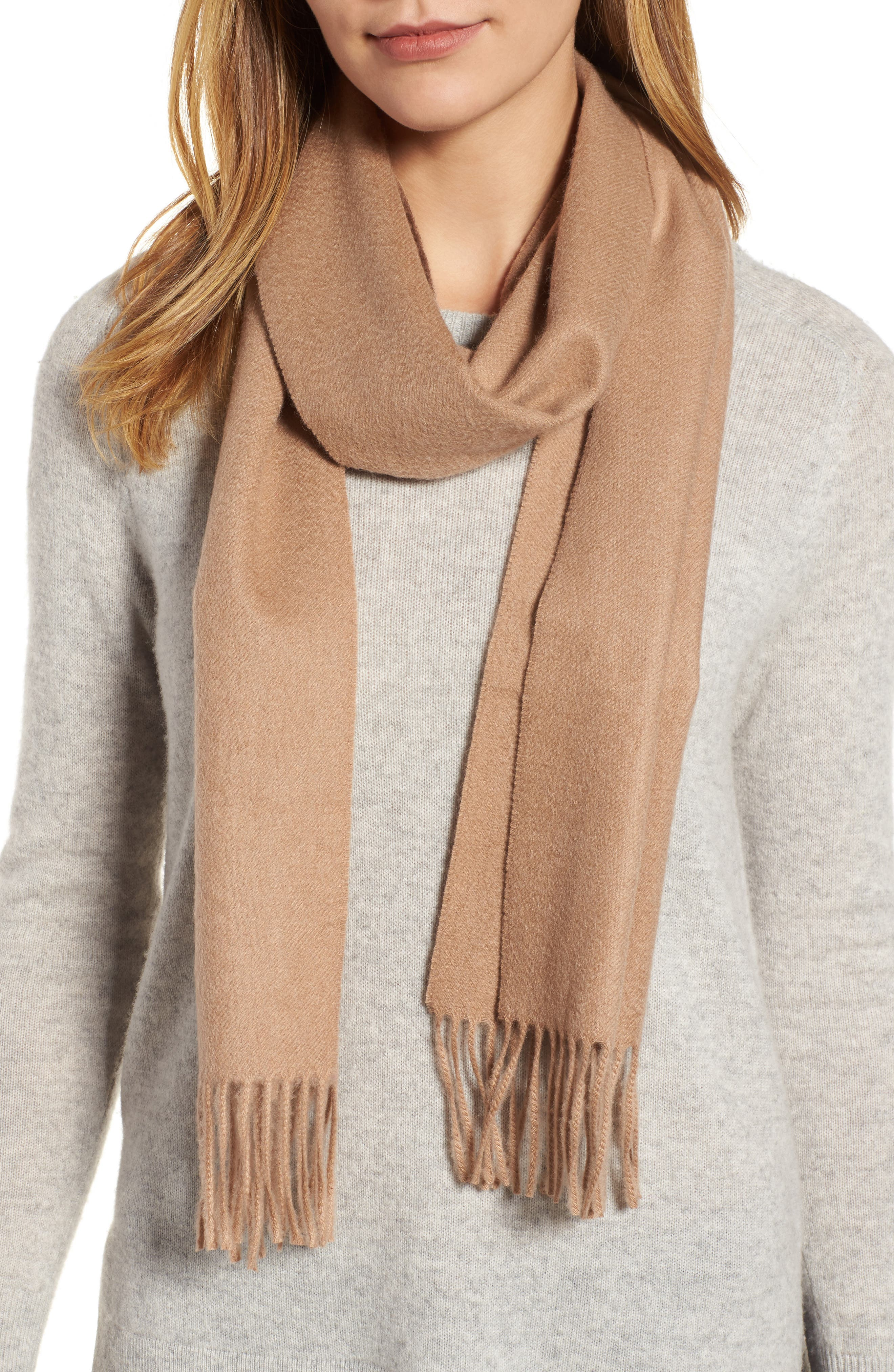 Solid Woven Cashmere Scarf,                             Alternate thumbnail 23, color,