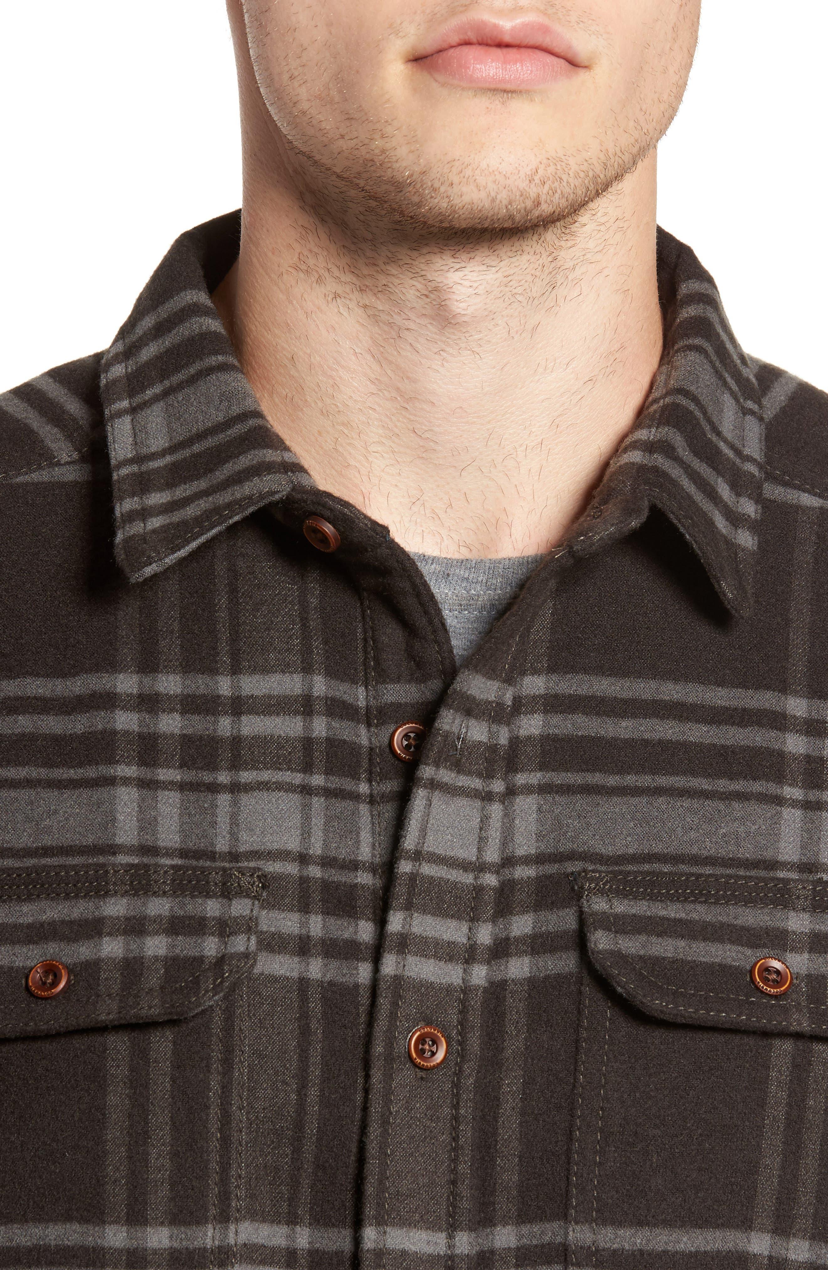 Deschutes River<sup>™</sup> Heavyweight Flannel Shirt Jacket,                             Alternate thumbnail 4, color,                             200