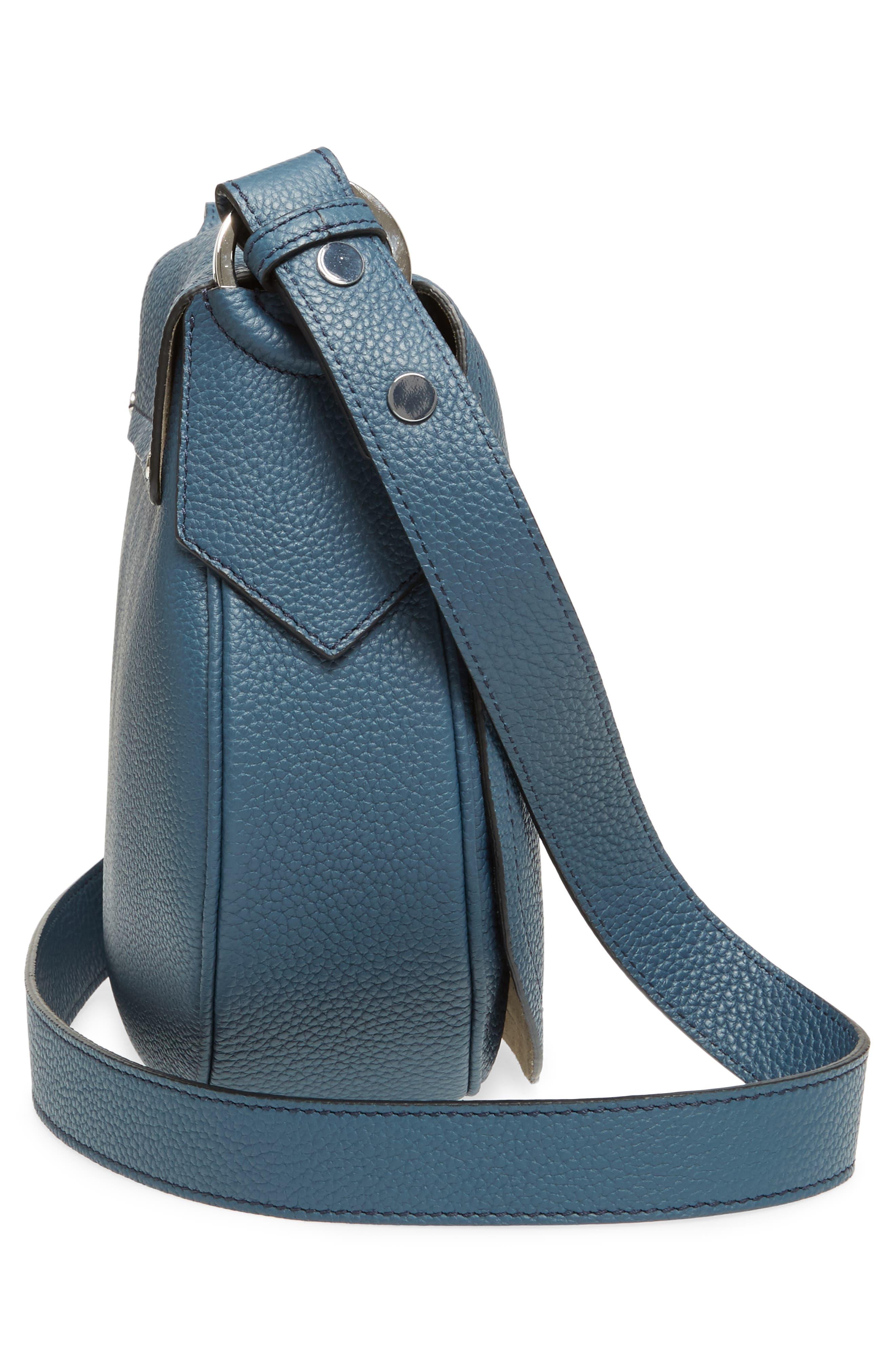 Small Valeria Leather Crossbody Bag,                             Alternate thumbnail 15, color,