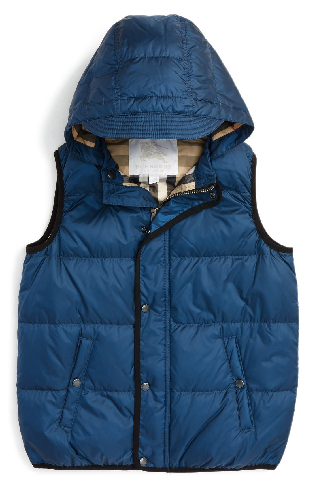 'Carlton' Quilted Down Vest,                         Main,                         color, 466