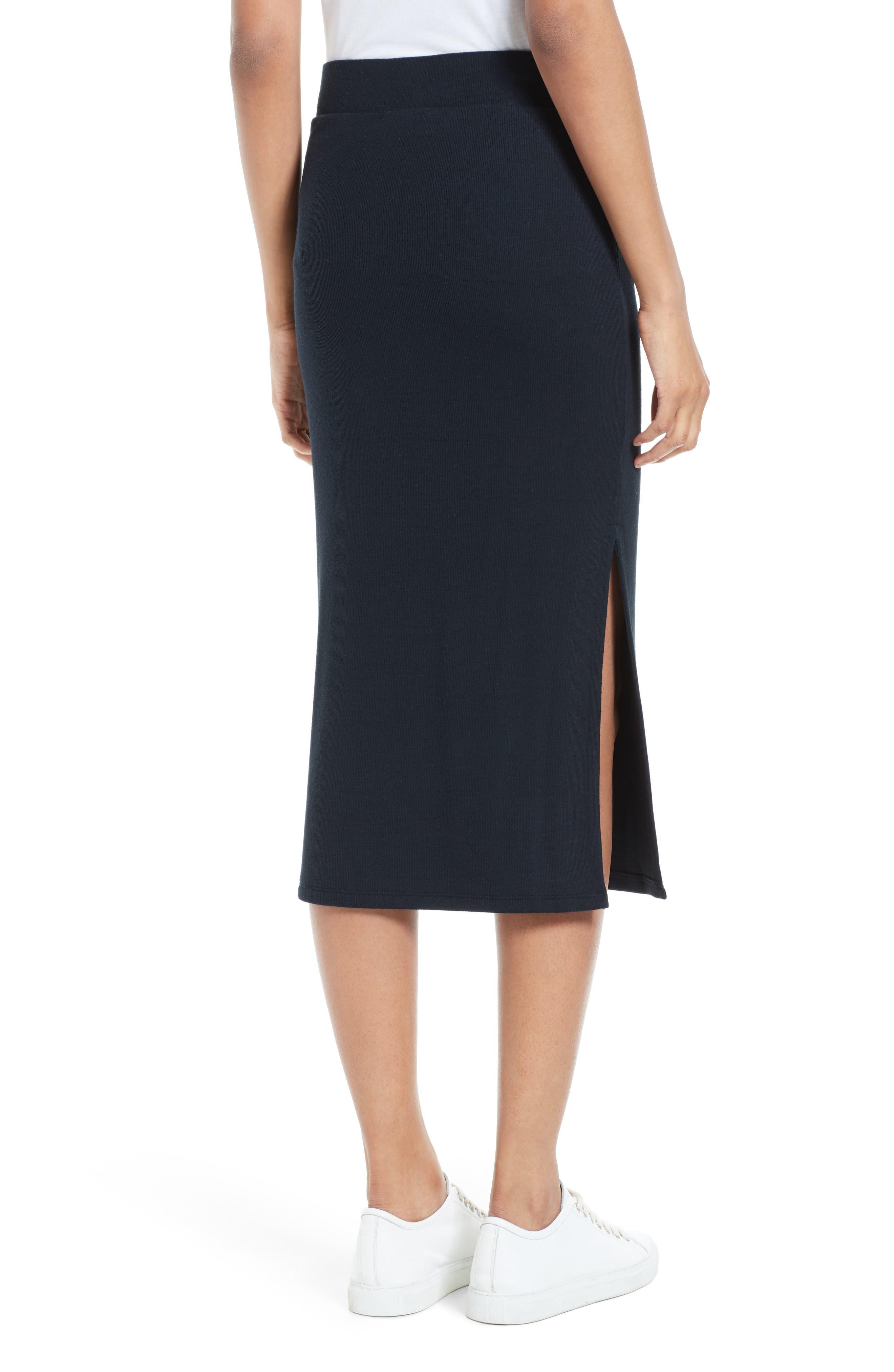 Side Slit Tube Skirt,                             Alternate thumbnail 2, color,                             001