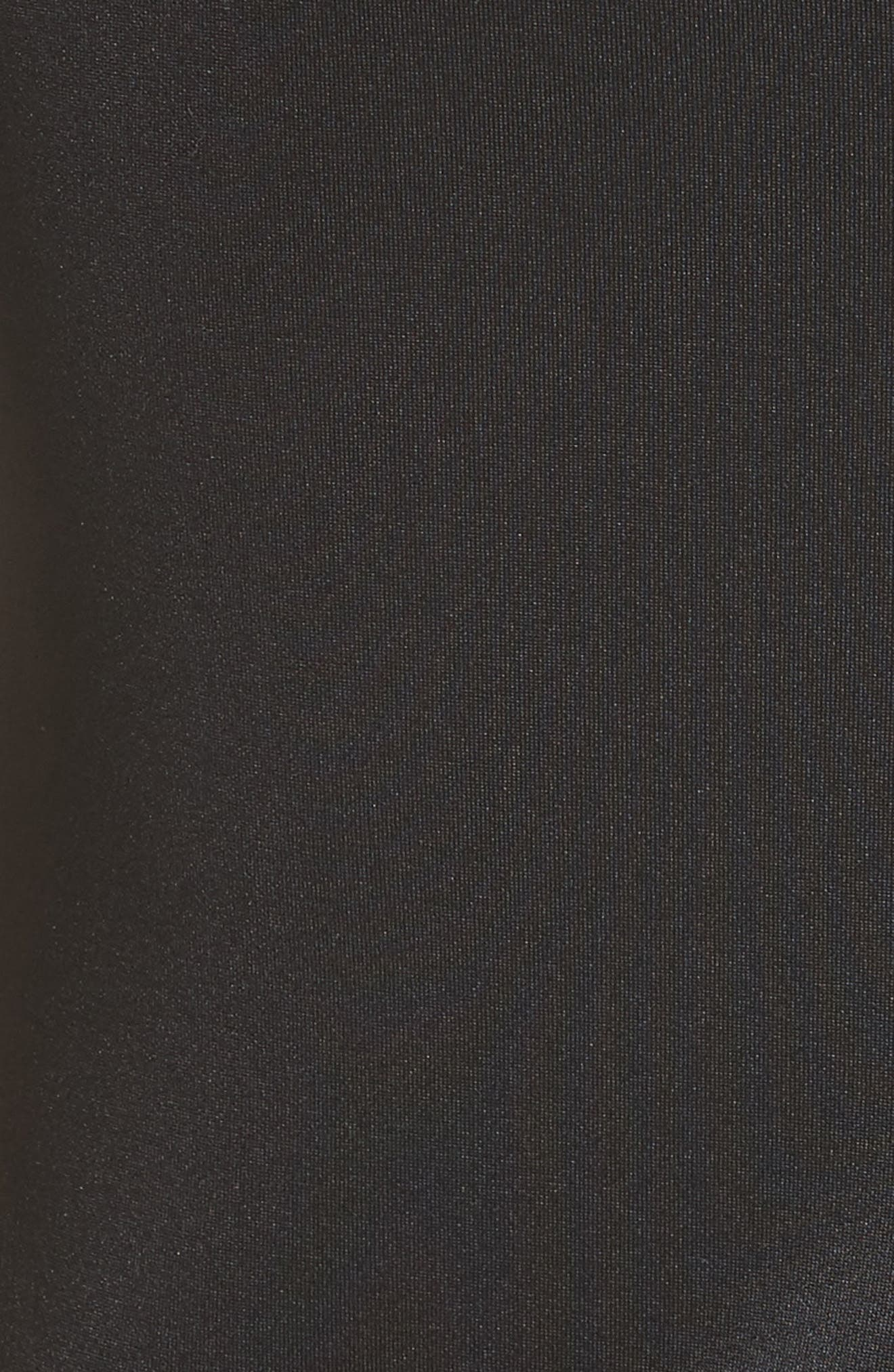 Neoprene Fit & Flare Dress,                             Alternate thumbnail 6, color,                             001