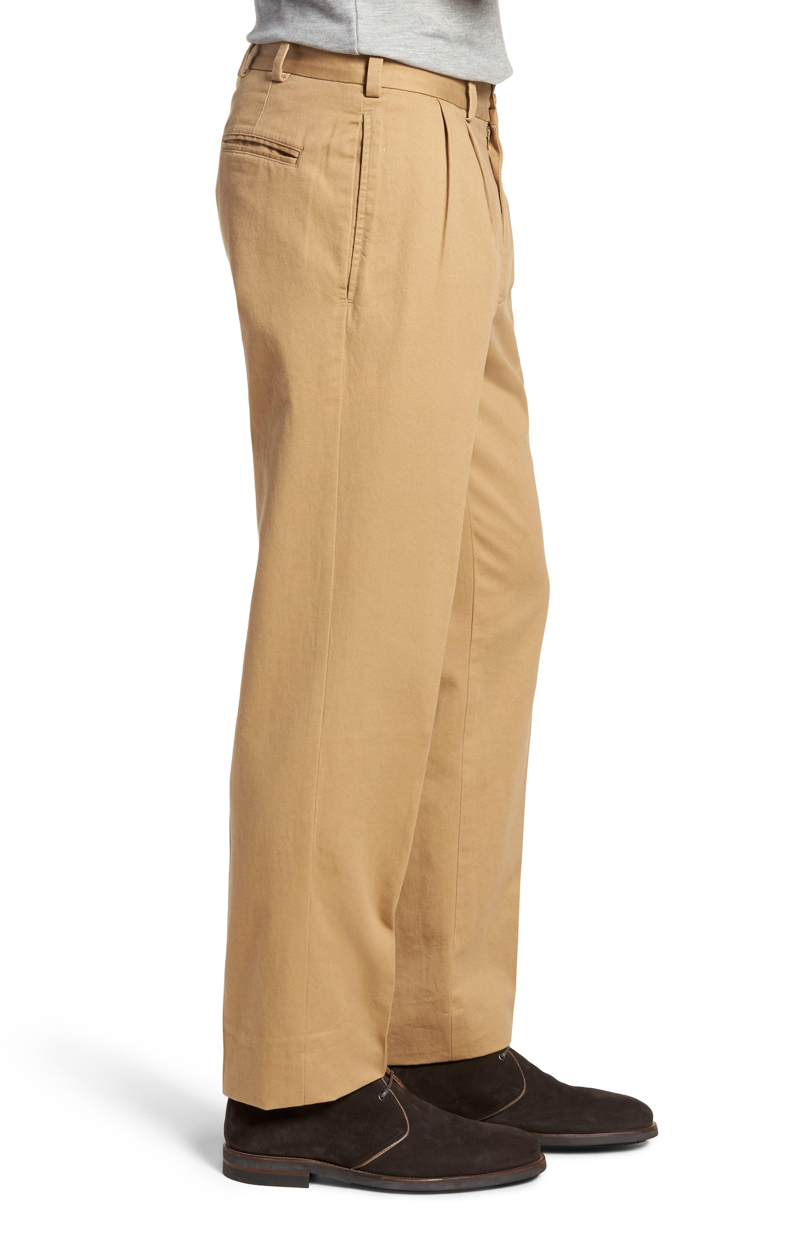 M2 Classic Fit Pleated Vintage Twill Pants,                             Alternate thumbnail 3, color,                             BRITISH KHAKI