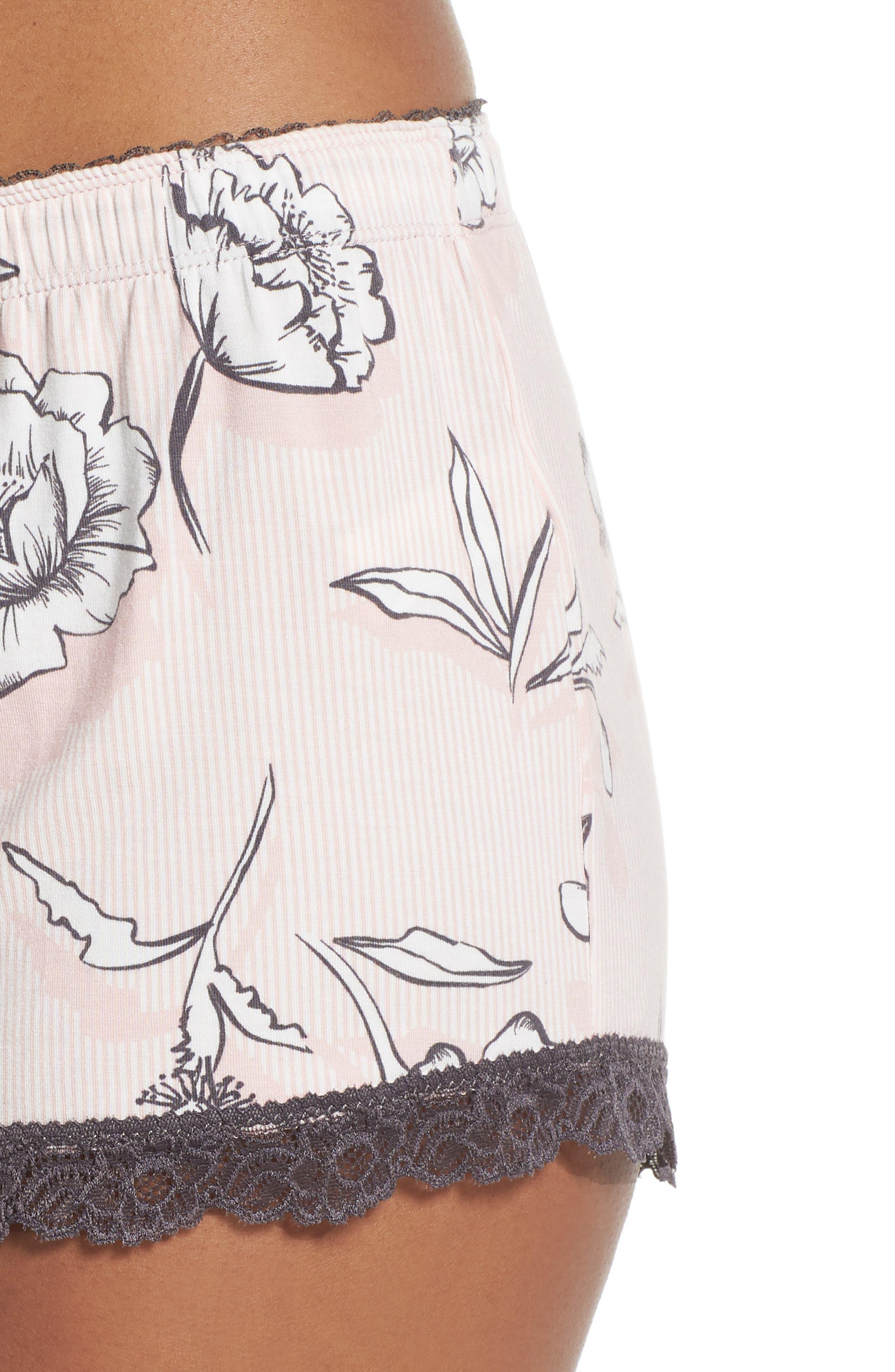 Shadow Floral Shorts,                             Alternate thumbnail 4, color,                             BLUSH