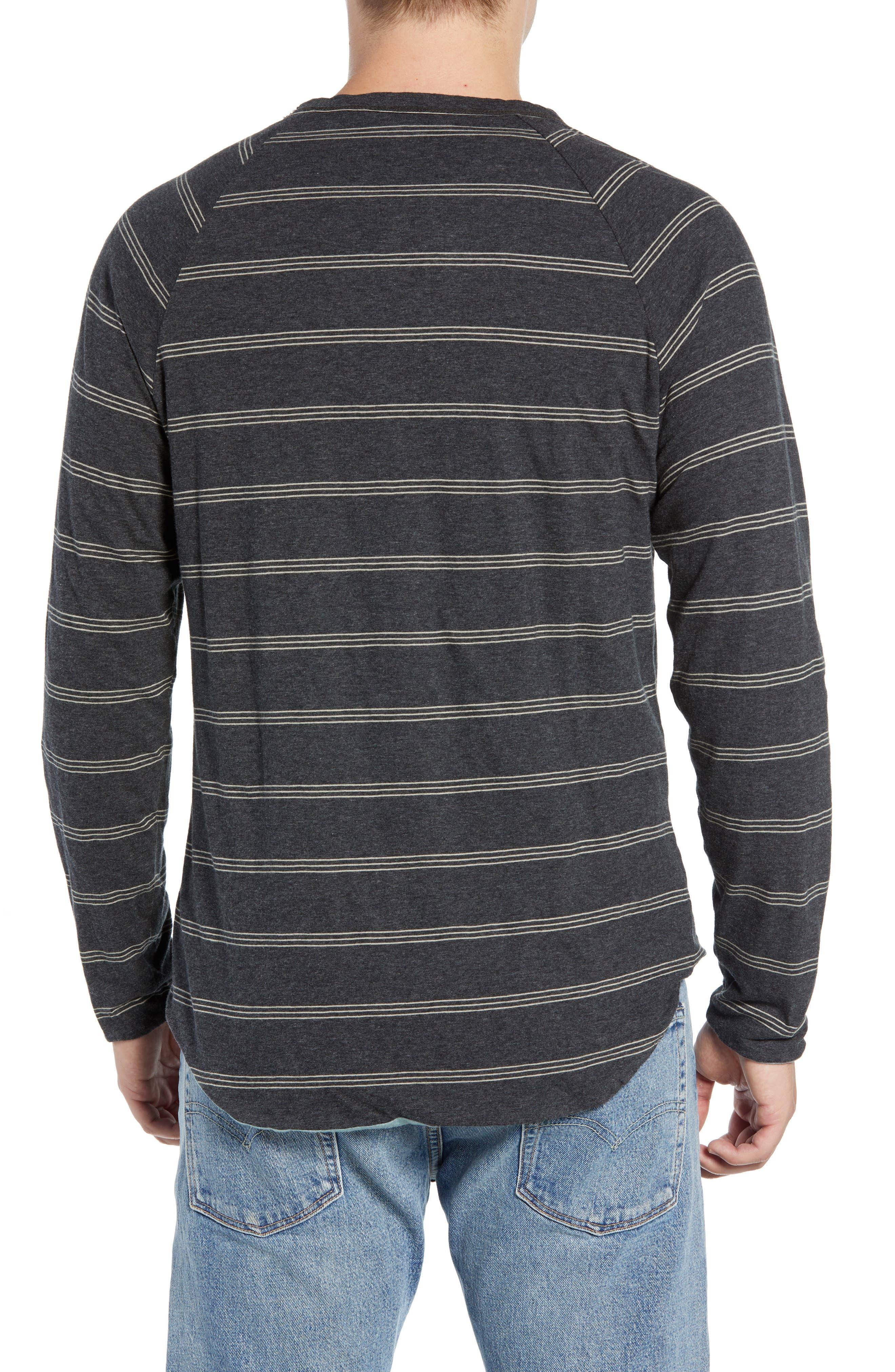 Gunnison Reversible Raglan Sleeve T-Shirt,                             Alternate thumbnail 3, color,                             PHANTOM HEATHER