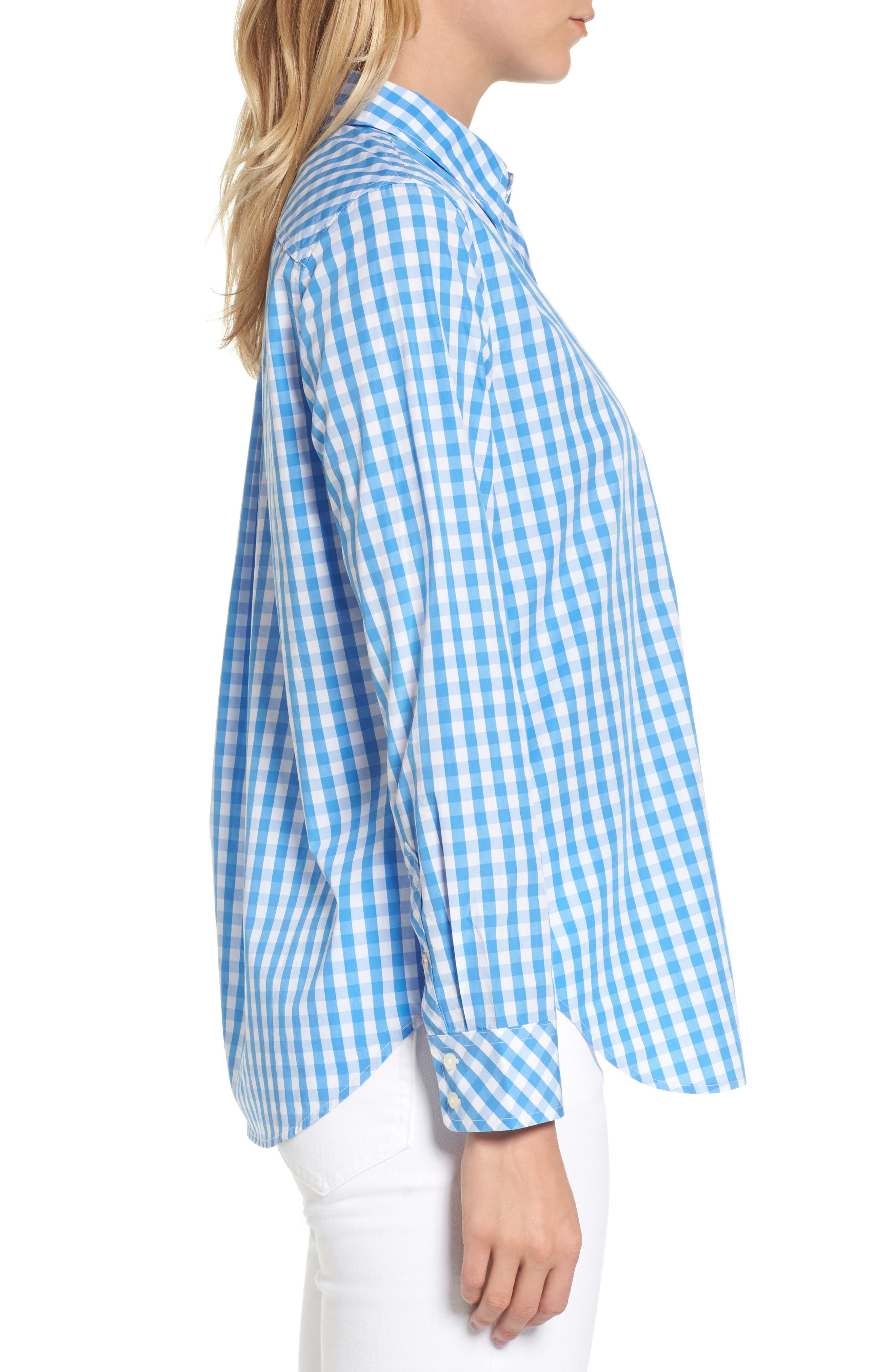 Seabreeze Gingham Pocket Shirt,                             Alternate thumbnail 3, color,                             464