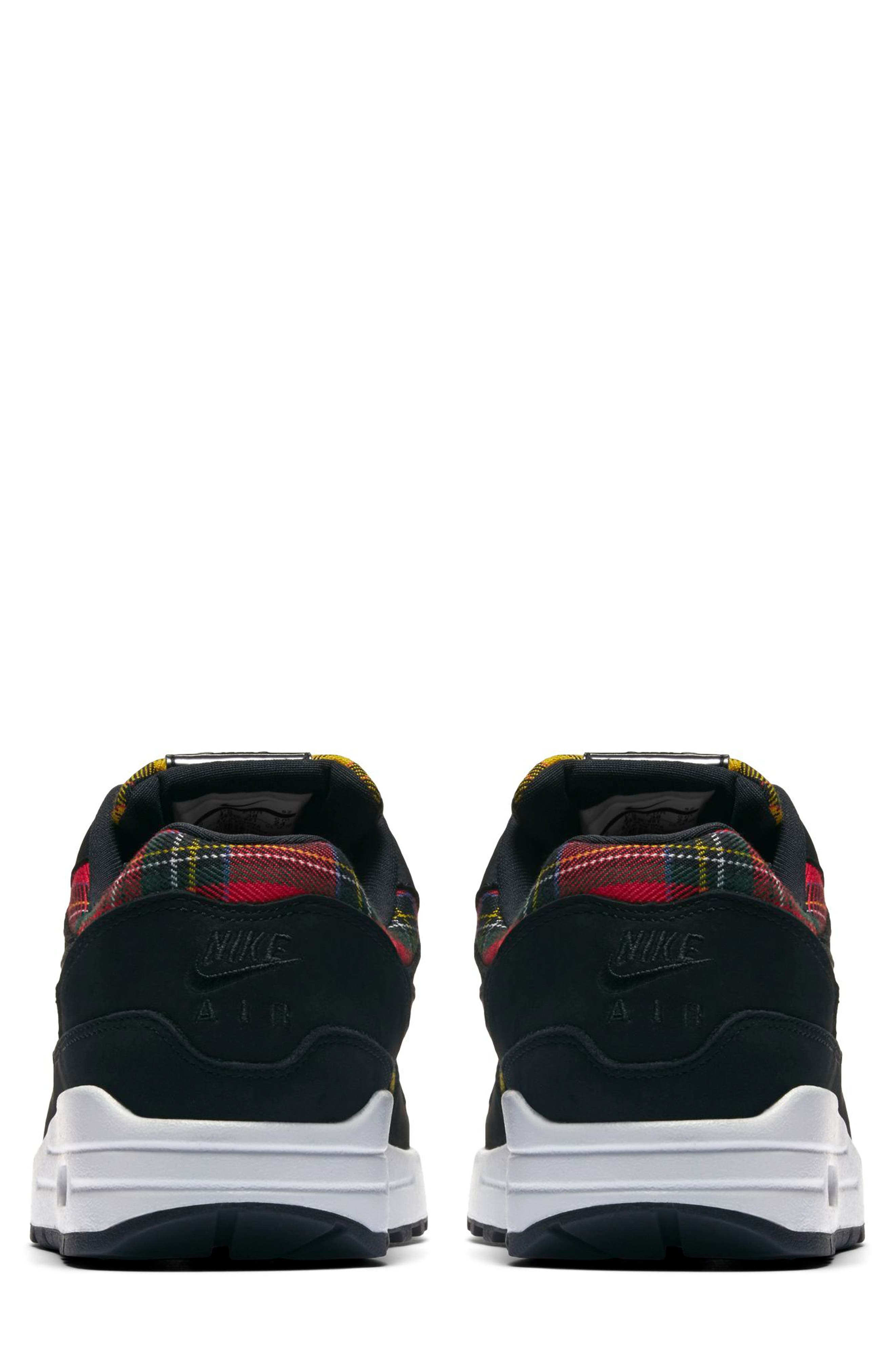 Air Max 1 SE Sneaker,                             Alternate thumbnail 2, color,                             BLACK/ BLACK/ UNIVERSITY RED