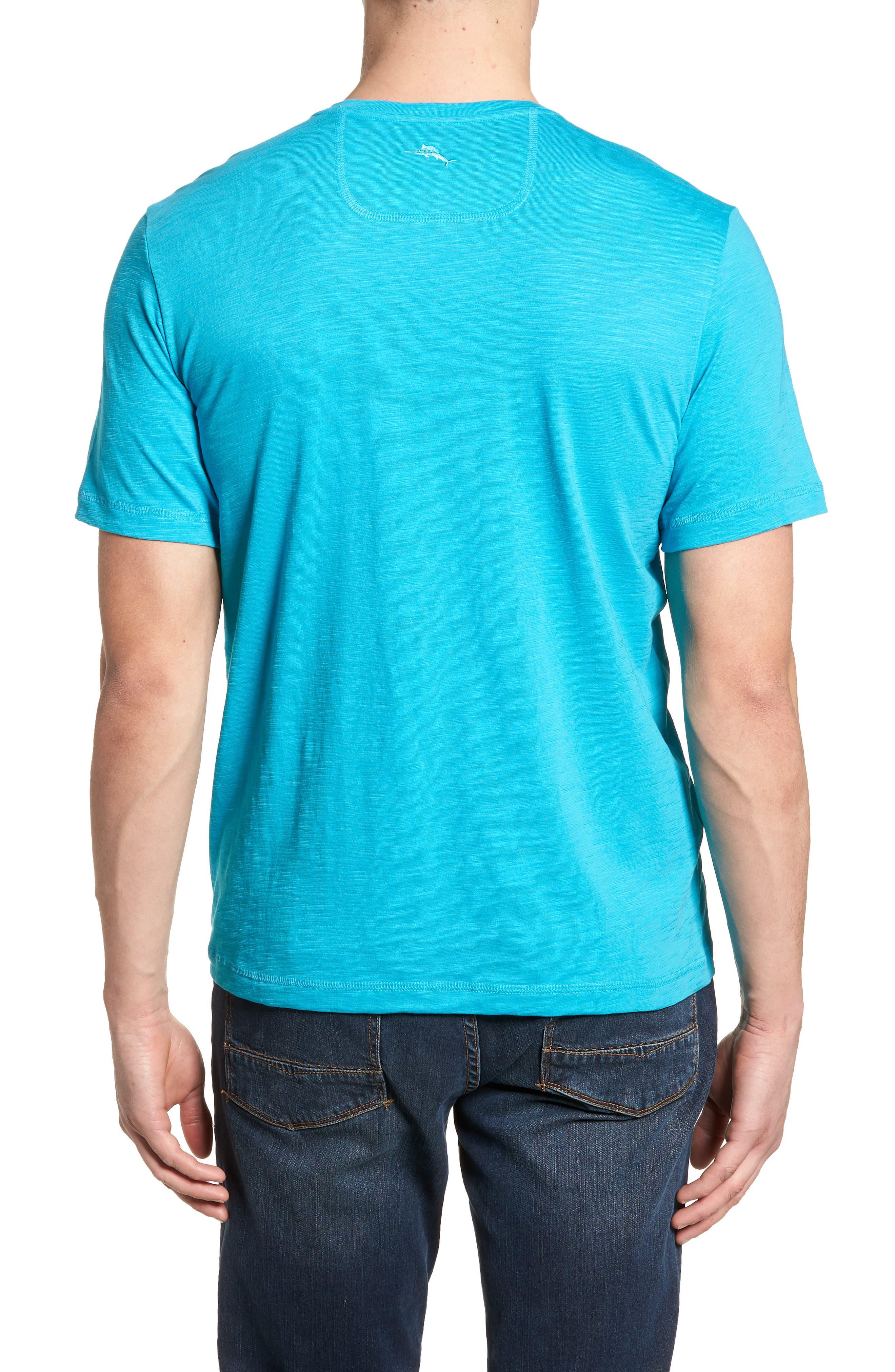 Portside Palms V-Neck T-Shirt,                             Alternate thumbnail 15, color,