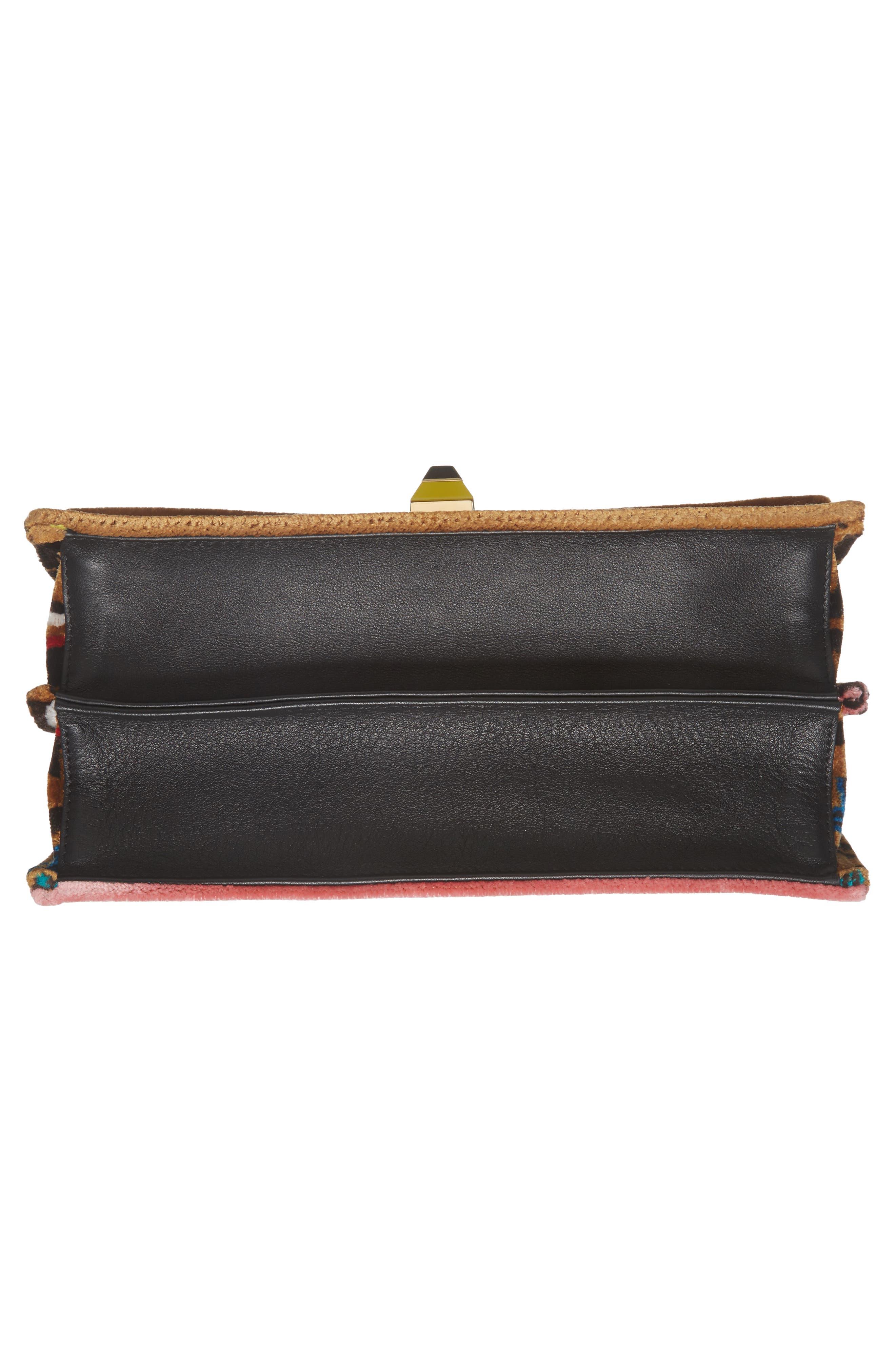 Kan I Tappetino Velvet Shoulder Bag,                             Alternate thumbnail 6, color,                             207