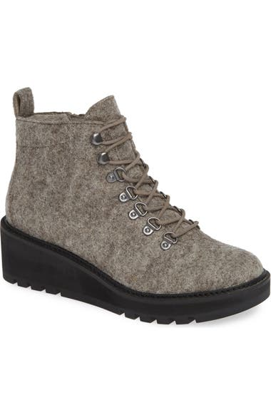 dc966ad82e32 Eileen Fisher Camp Wool Felt Lace-Up Boot (Women)