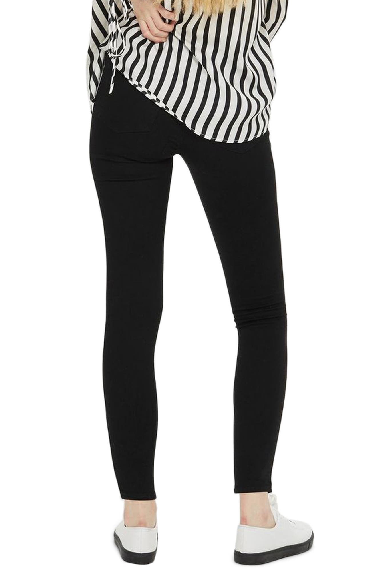 MOTO Leigh Super Rip Jeans,                             Alternate thumbnail 2, color,                             BLACK