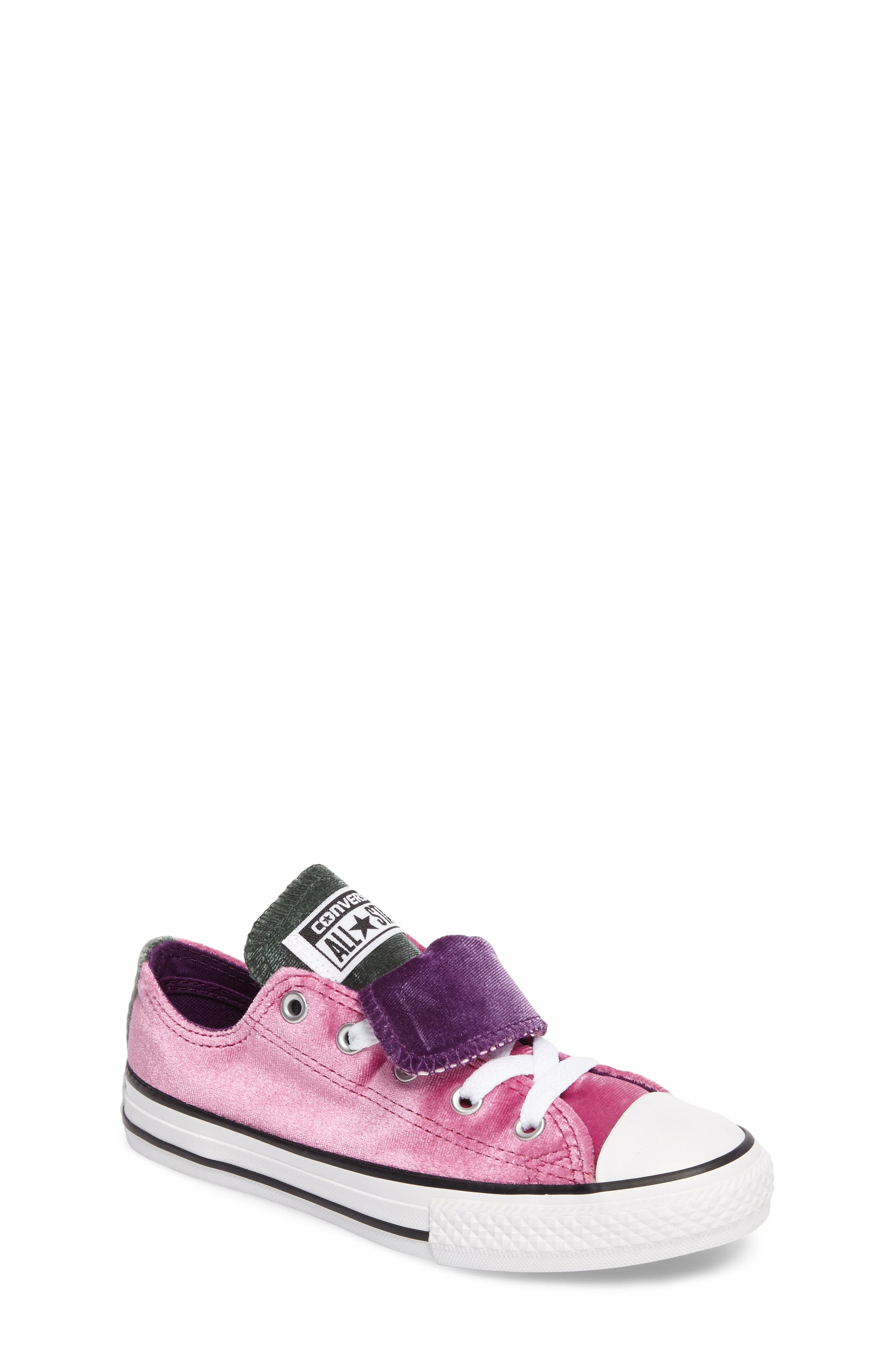 All Star<sup>®</sup> Velvet Double Tongue Sneaker,                             Main thumbnail 1, color,                             650