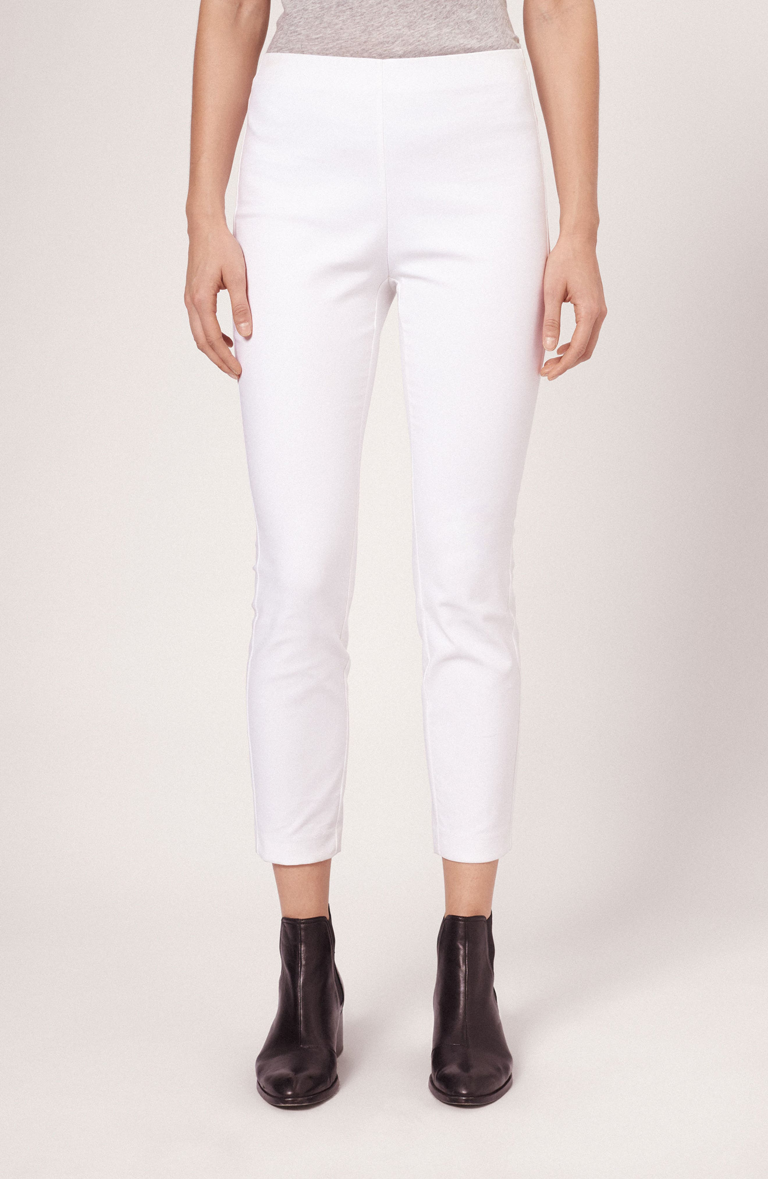 'Simone' Slim Ankle Pants,                             Alternate thumbnail 14, color,                             WHITE