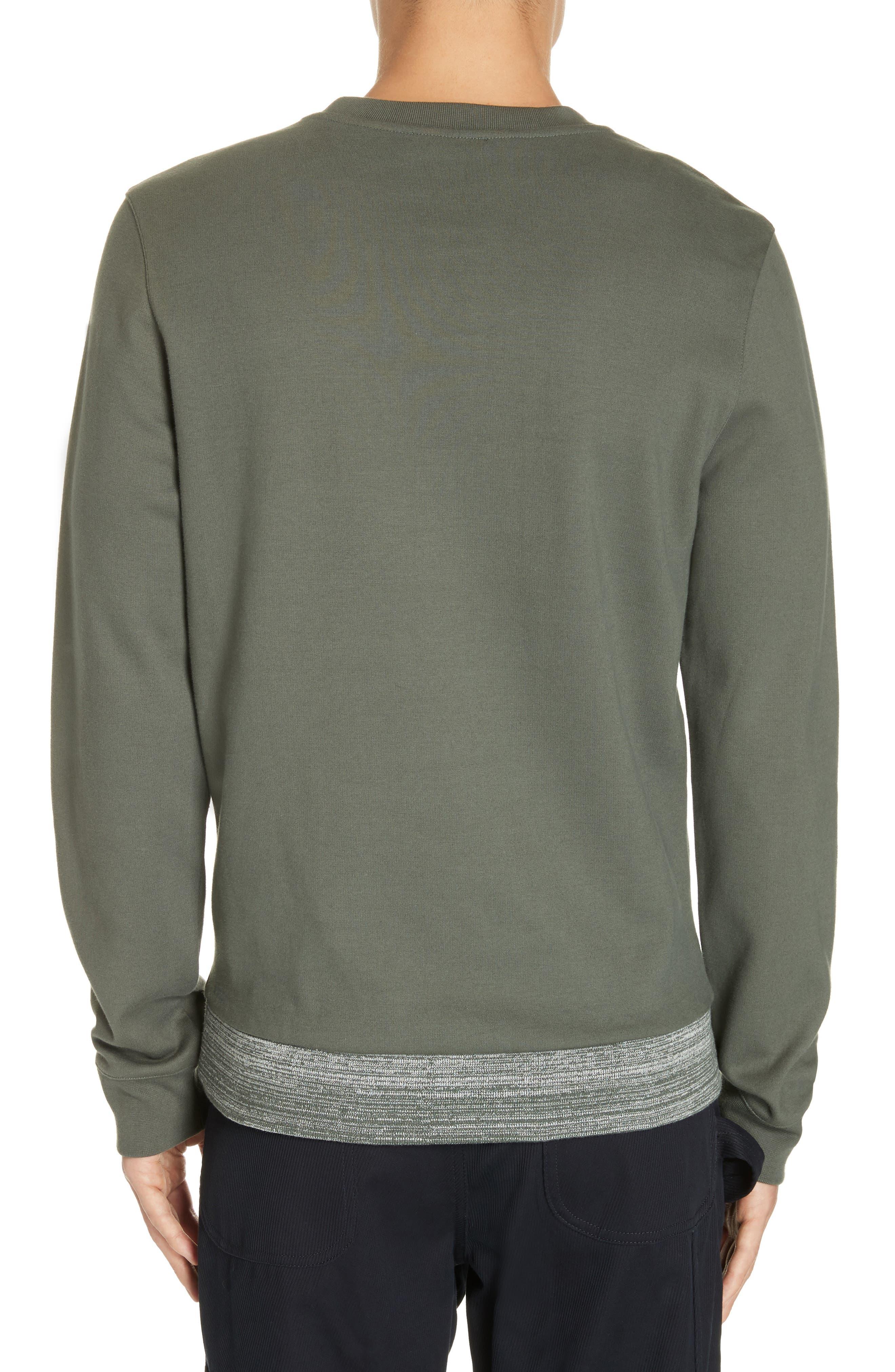 Jeremie Space Dye Sweatshirt,                             Alternate thumbnail 2, color,                             KHAKI