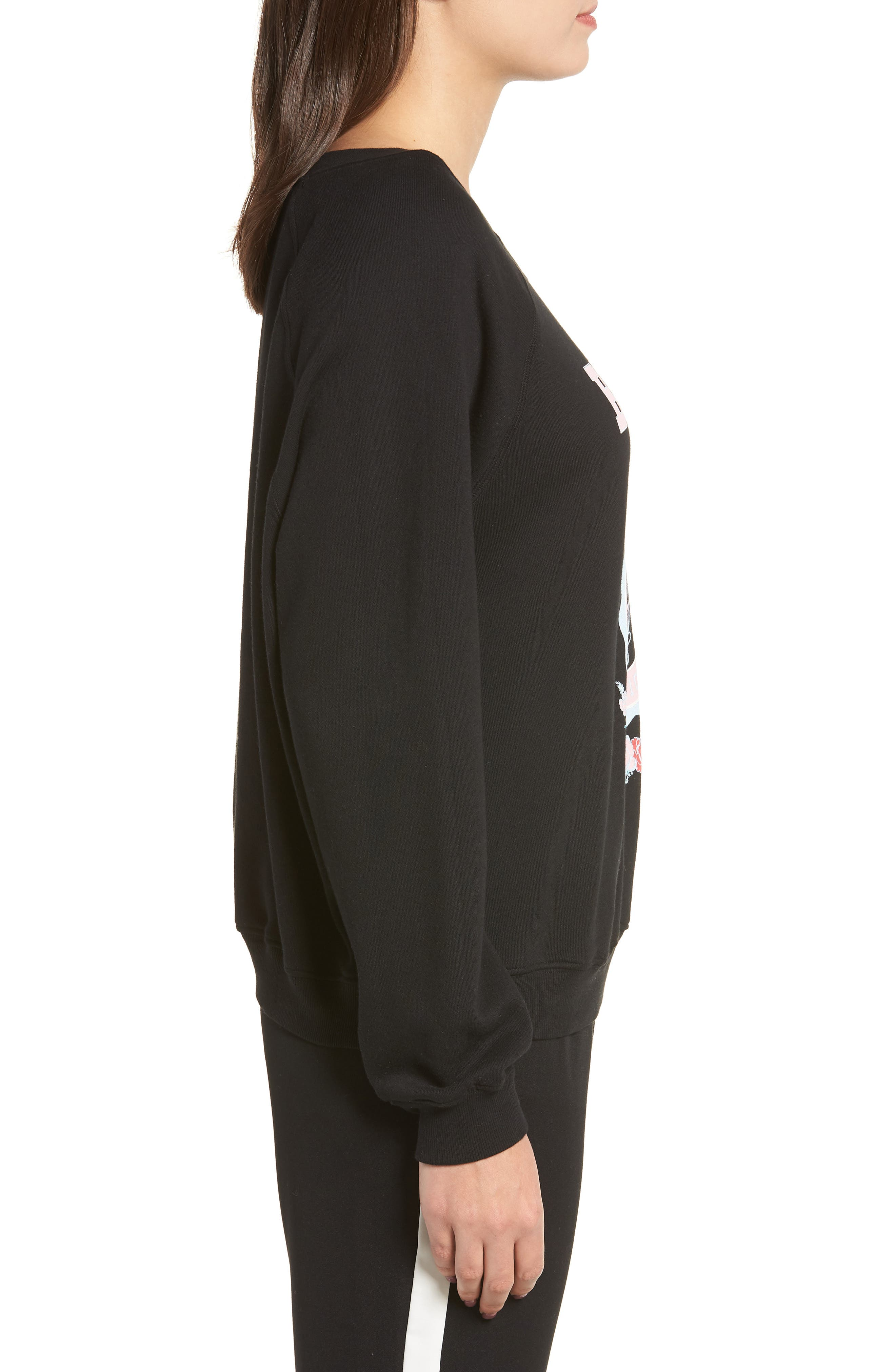 Beverly Hills Crest Sommers Sweatshirt,                             Alternate thumbnail 3, color,                             CLEAN BLACK