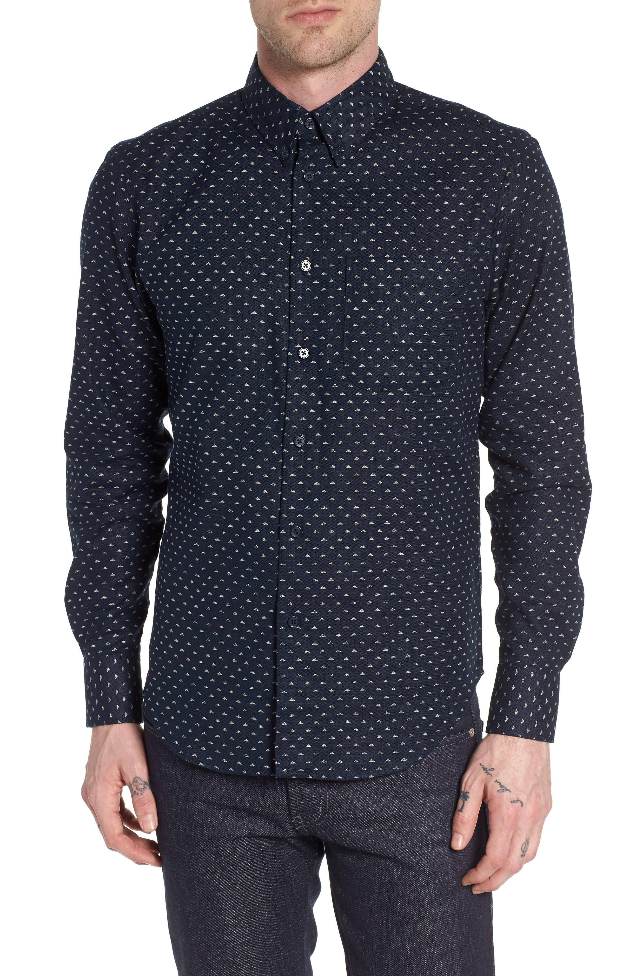 Kimono Print Shirt,                         Main,                         color, 401