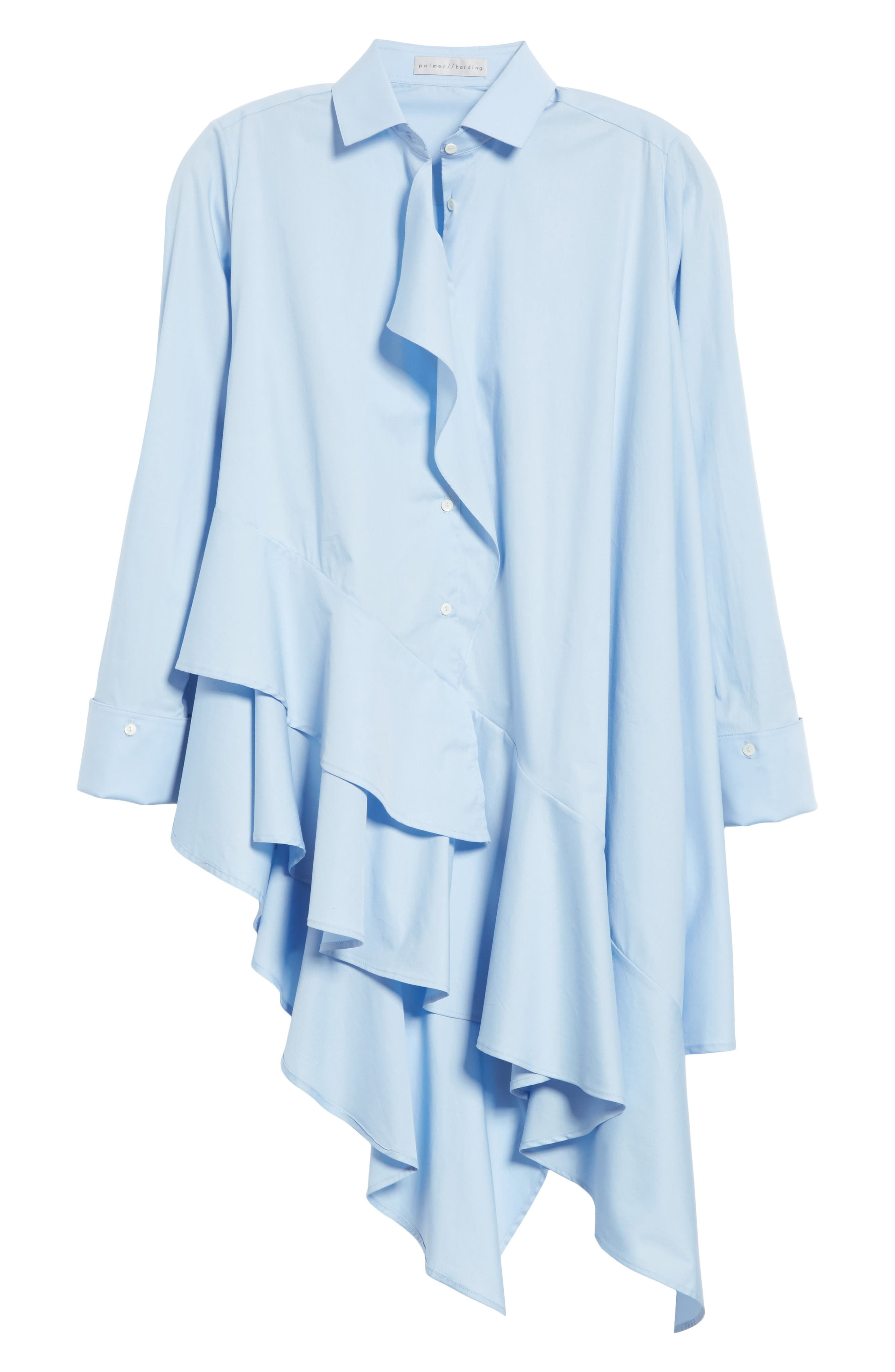 Spicy Ruffle Shirt,                             Alternate thumbnail 6, color,                             400