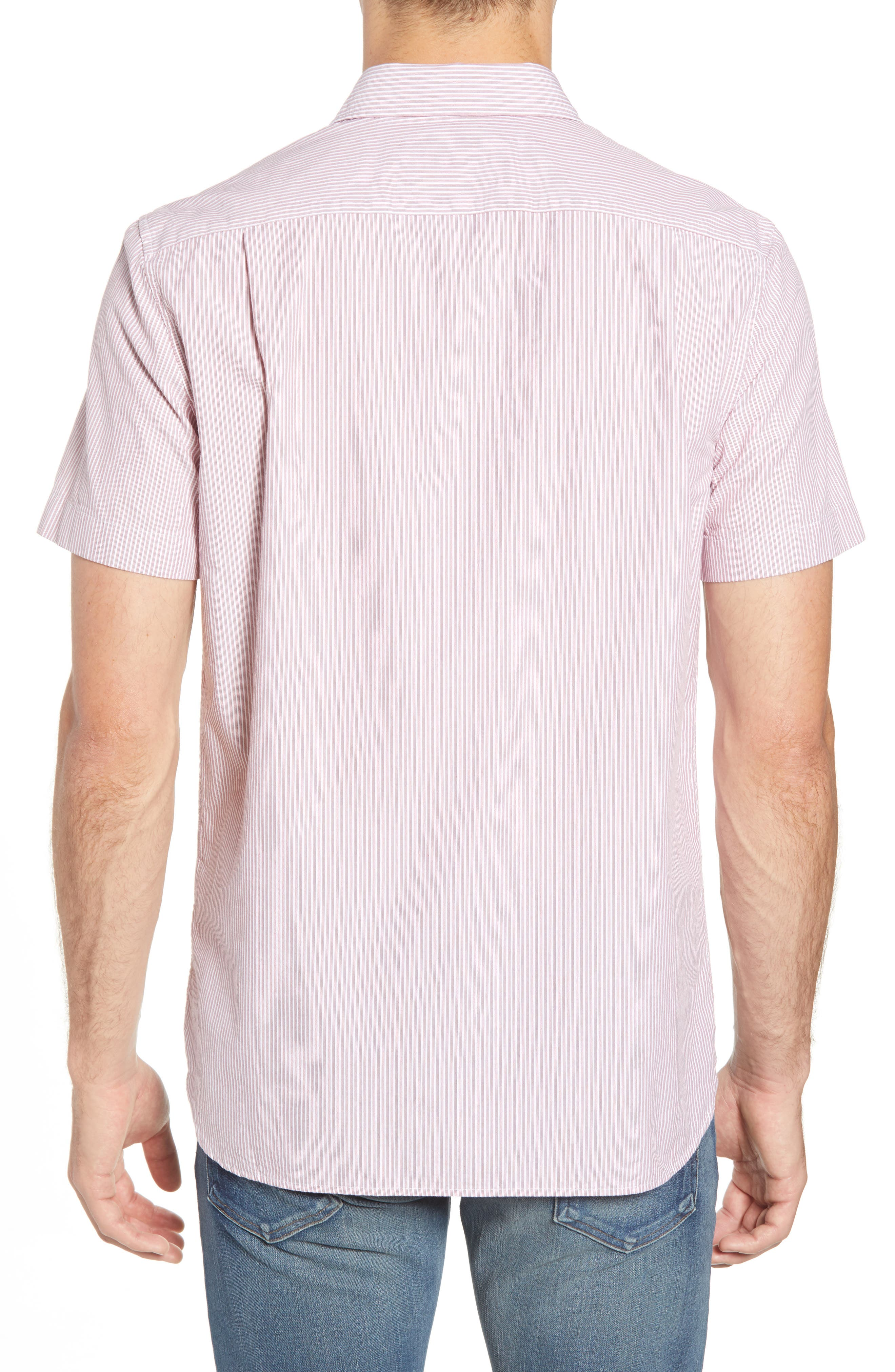 Regular Fit Seersucker Sport Shirt,                             Alternate thumbnail 2, color,                             TOREADOR