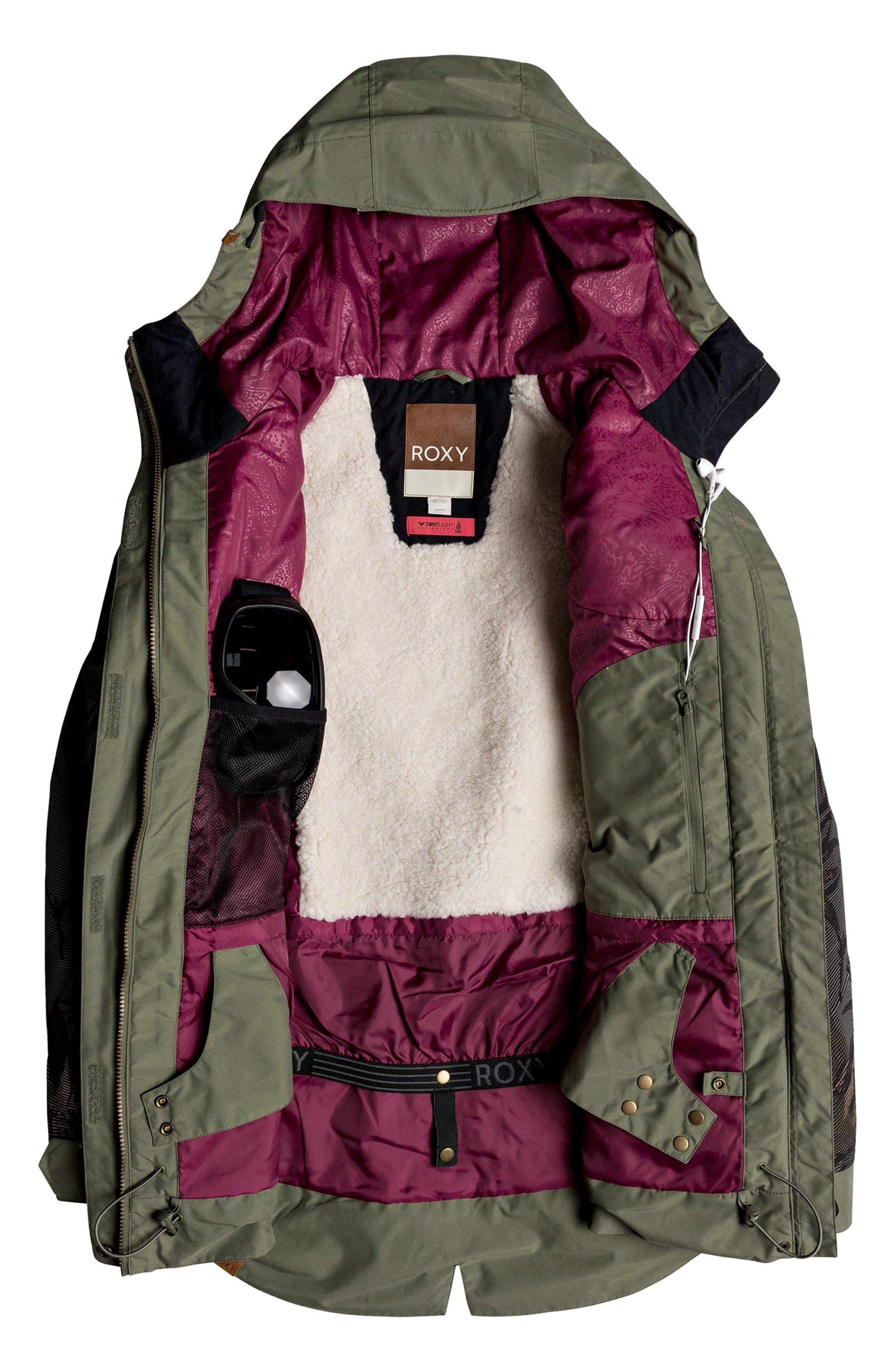 Waterproof DryFlight<sup>®</sup> Thinsulate<sup>®</sup> Insulated Snow Jacket,                             Alternate thumbnail 3, color,                             FOUR LEAF CLOVER-SWELL FLOWERS