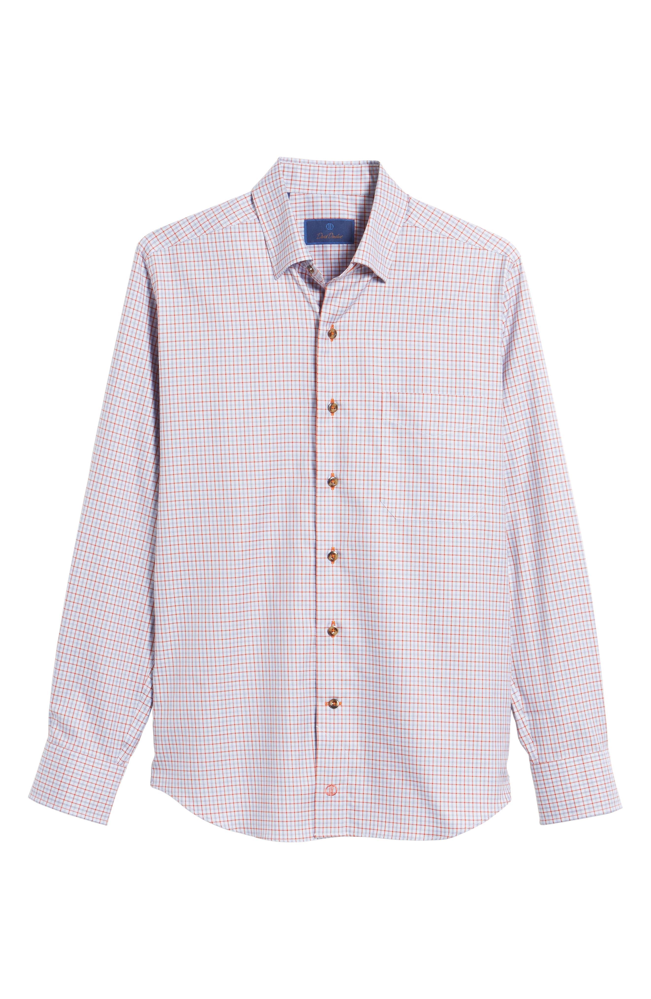 Regular Fit Plaid Sport Shirt,                             Alternate thumbnail 6, color,                             804