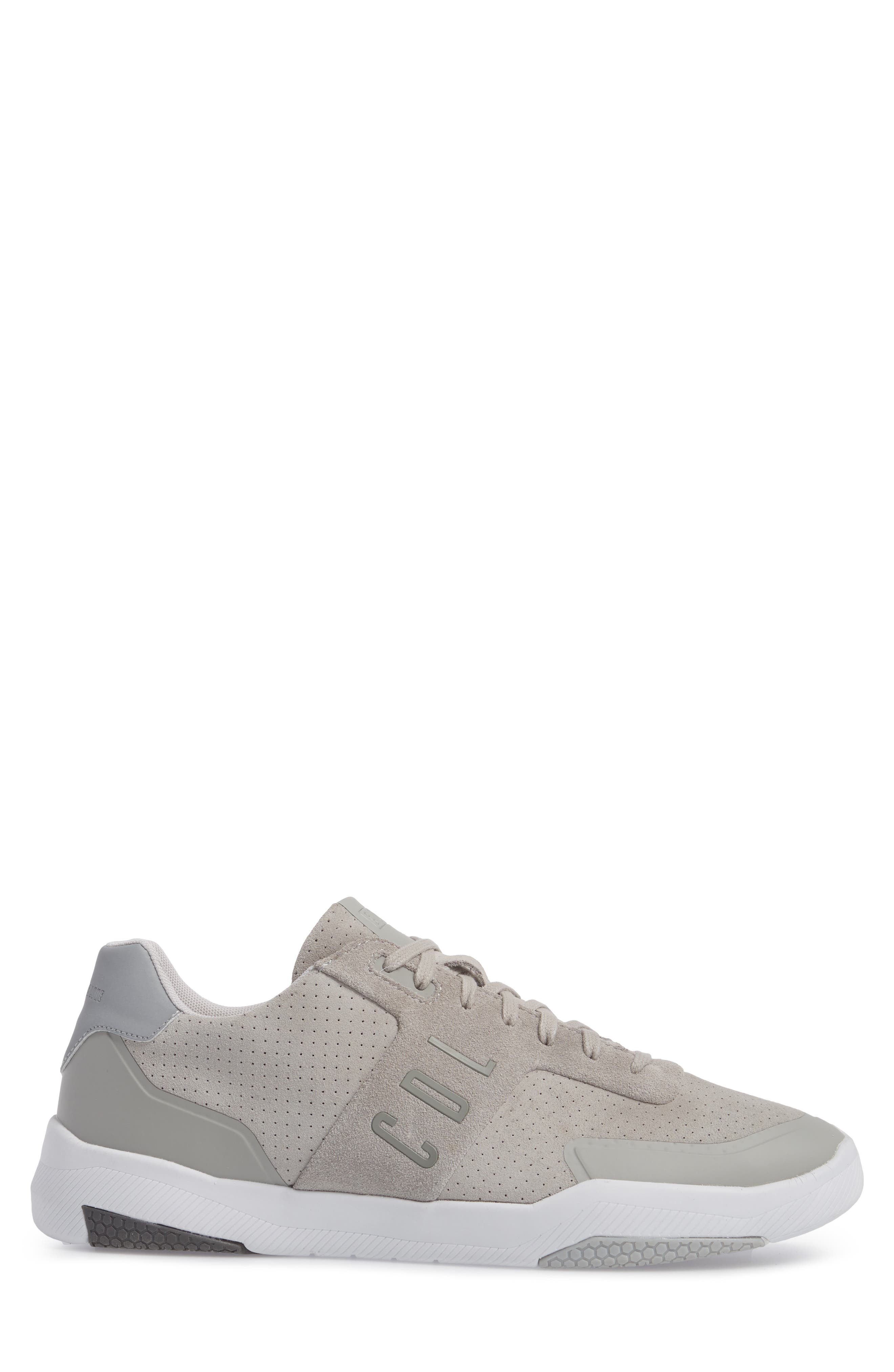 Shima Low Top Sneaker,                             Alternate thumbnail 3, color,                             GREY SUEDE