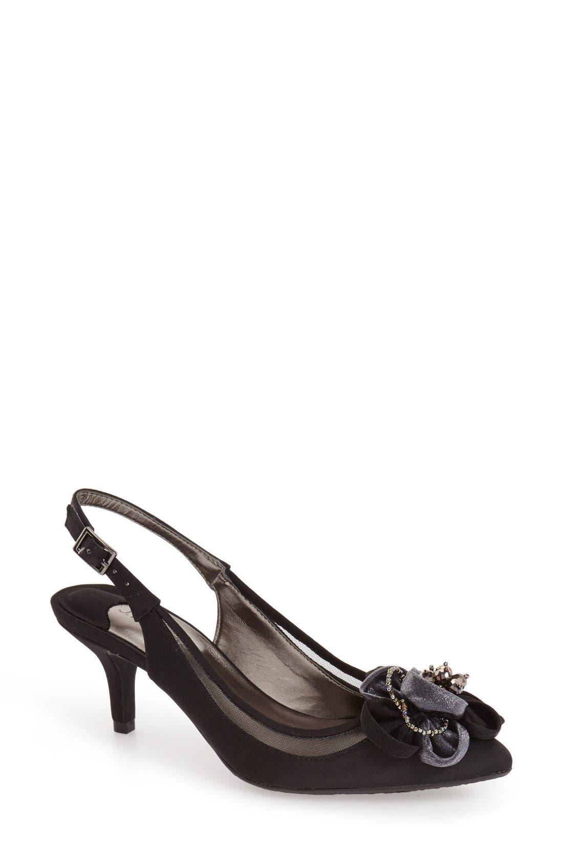 'Adderly' Kitten Heel Slingback Pointy Toe Pump,                         Main,                         color, 001