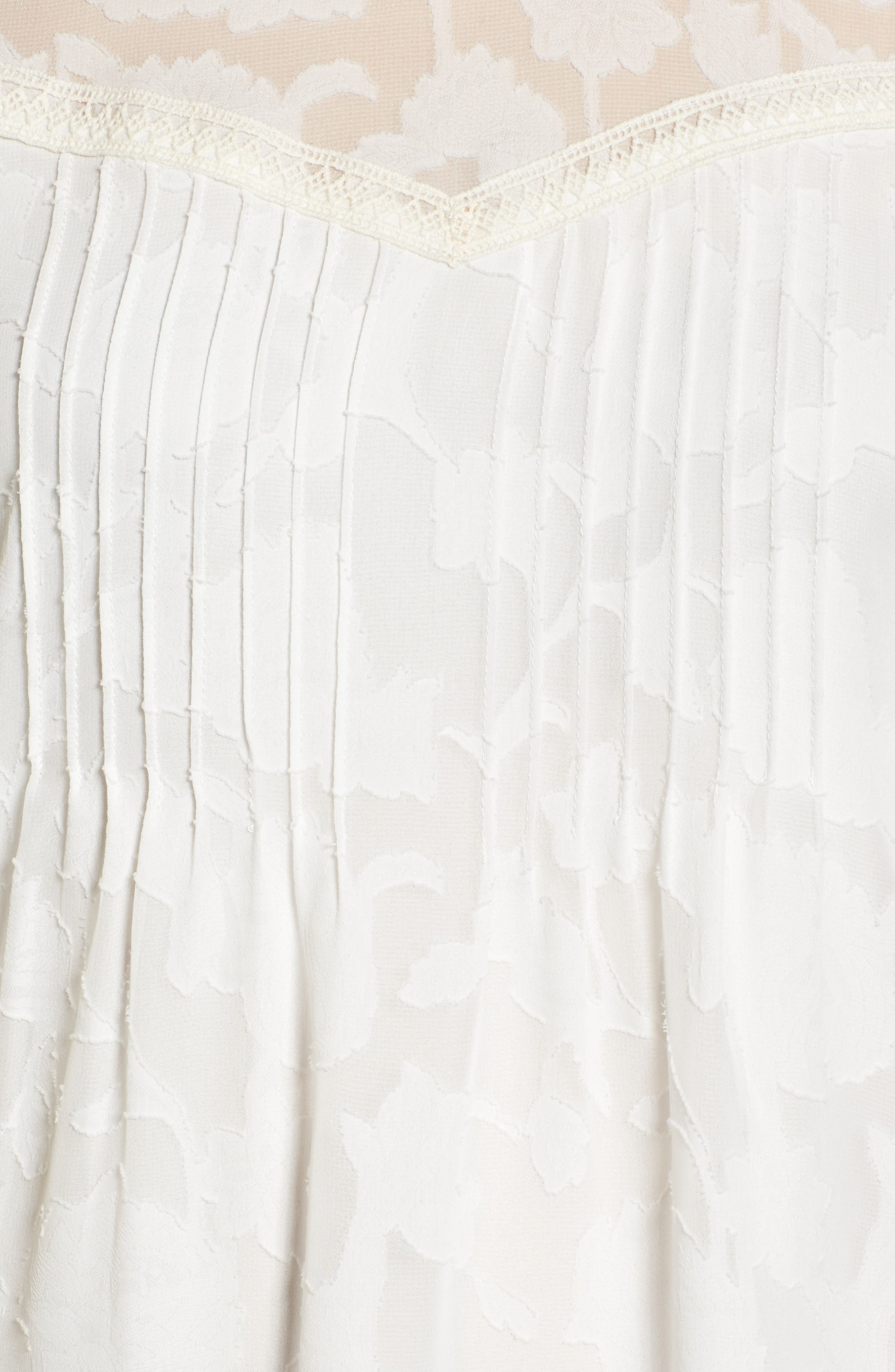 Cold Shoulder Jacquard Shirt,                             Alternate thumbnail 5, color,                             110